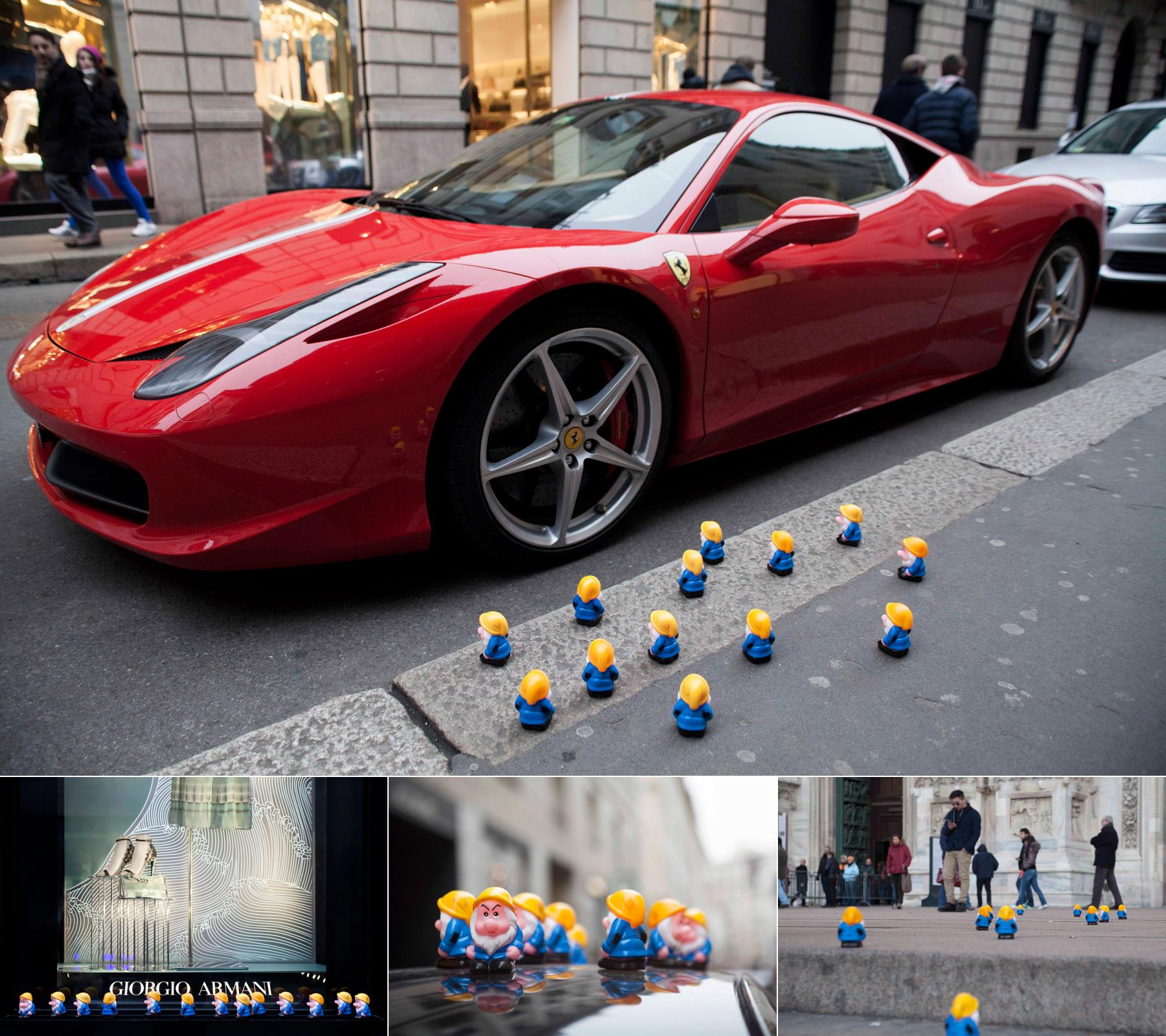 Tikyadv Ambient Ad -  Gnomes have invaded Milan