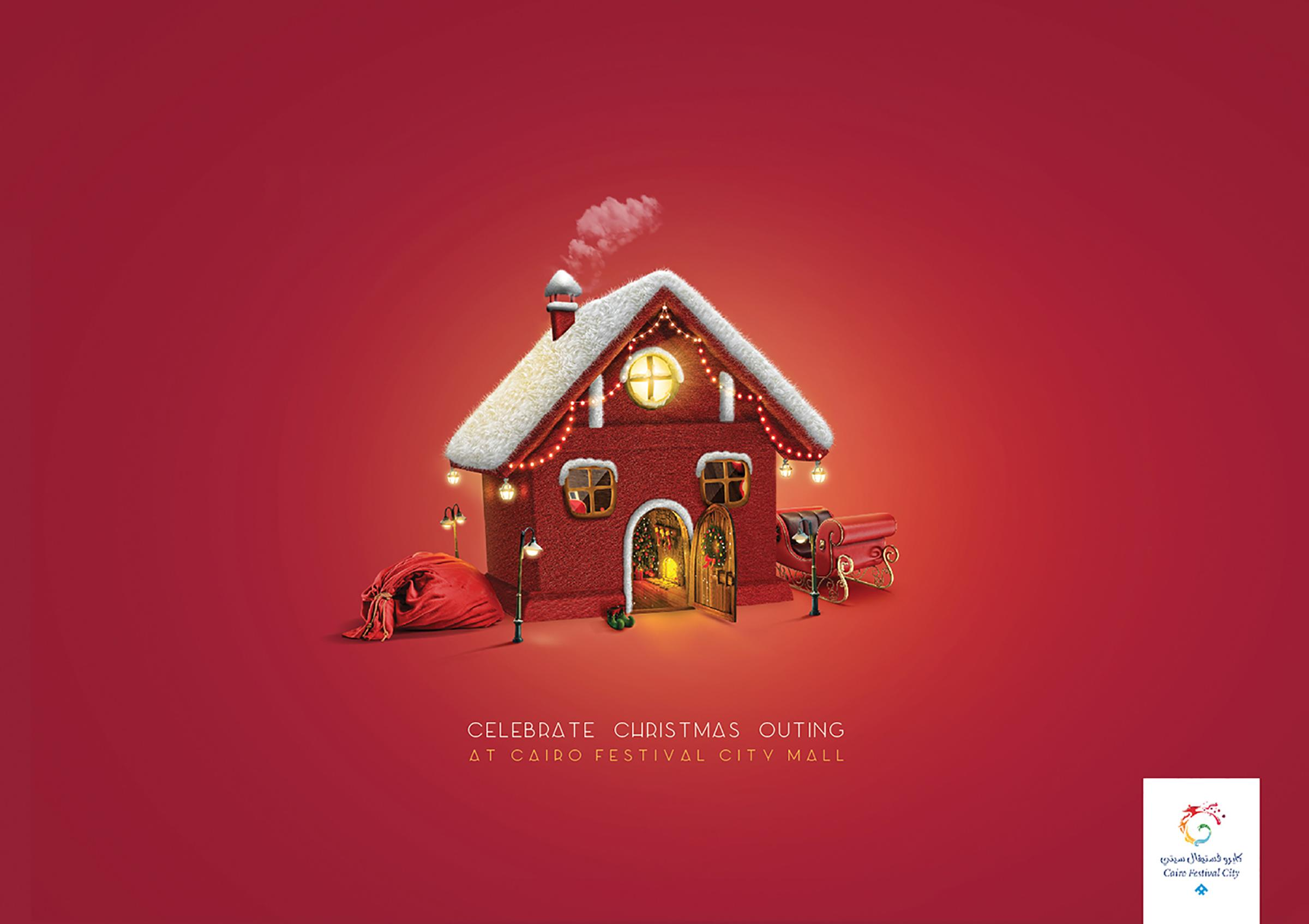Cairo Festival City Mall Print Ad - Gingerbread house