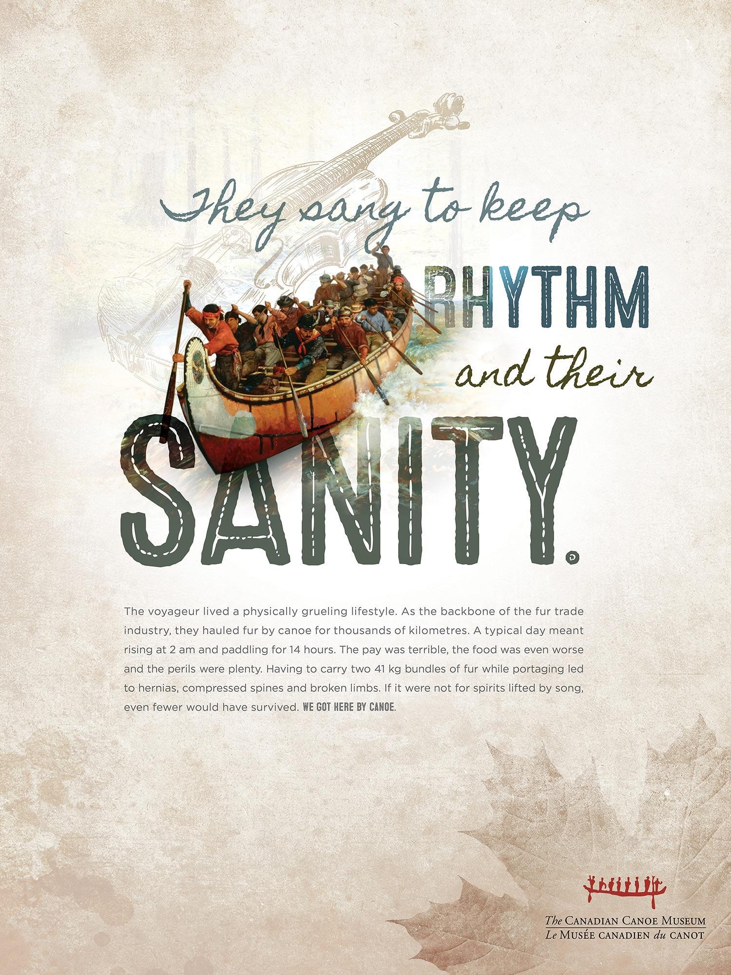Canadian Canoe Museum Print Ad - Sanity