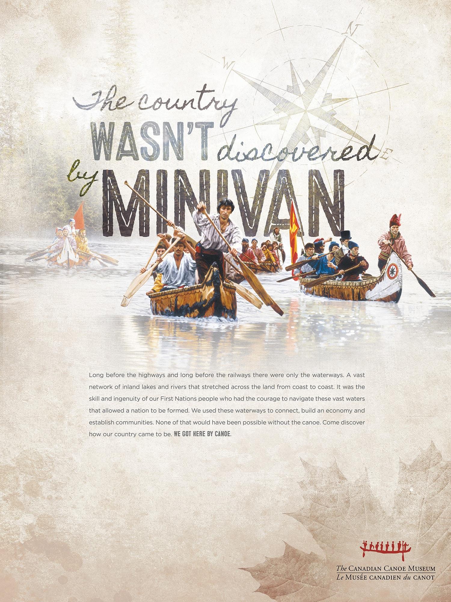 Canadian Canoe Museum Print Ad - Minivan