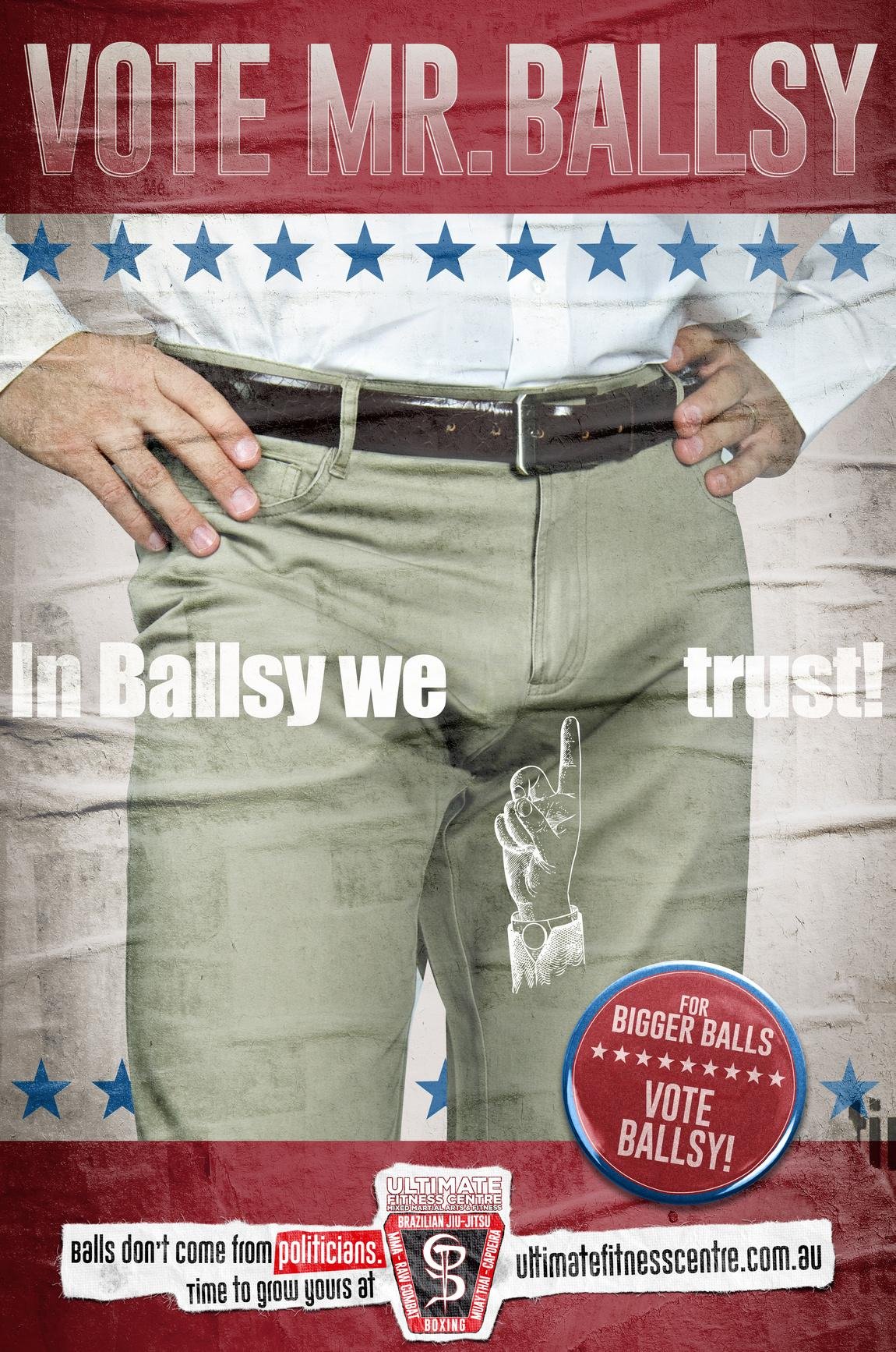 Ultimate Fitness Centre Print Ad - Grow Balls, 1