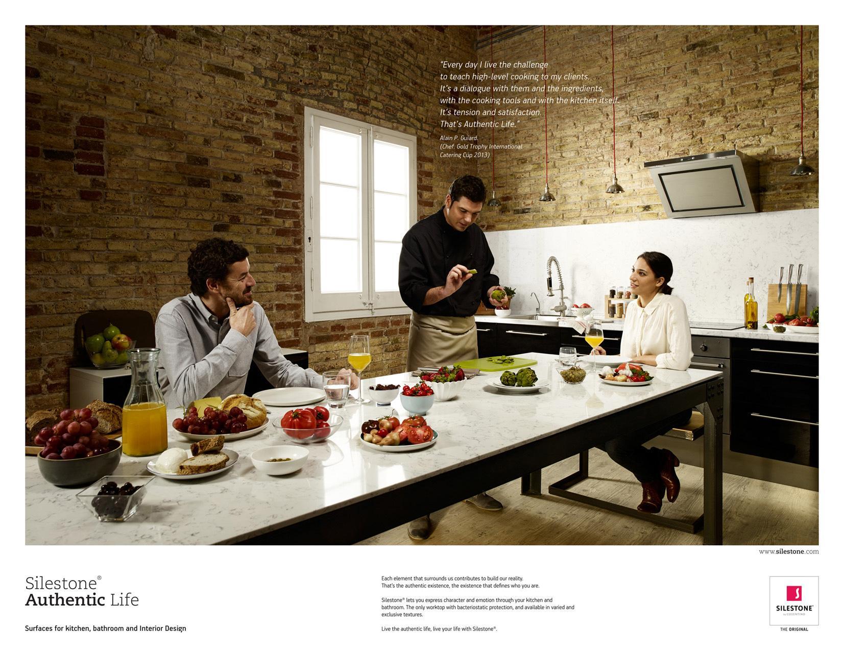 Silestone Print Ad -  Silestone Authentic Life, 3