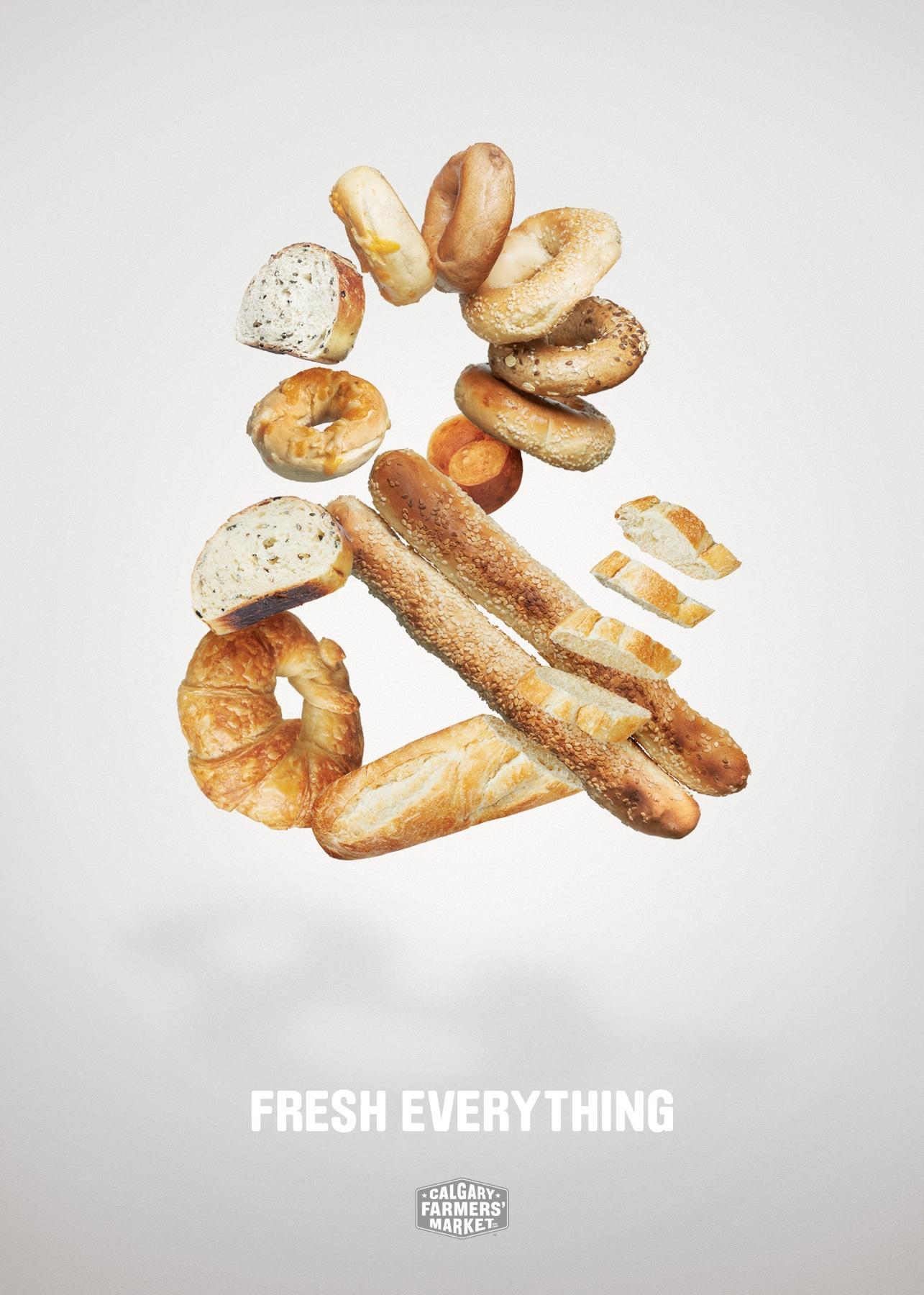 Calgary Farmers' Market Print Ad -  Fresh Everything, & Bread
