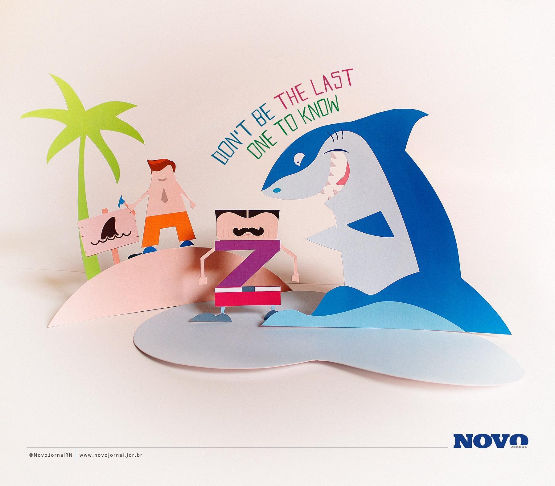 Novo Jornal Print Ad -  Shark