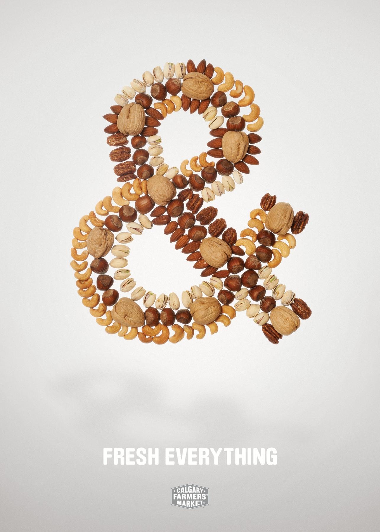 Calgary Farmers' Market Print Ad -  Fresh Everything, & Nuts