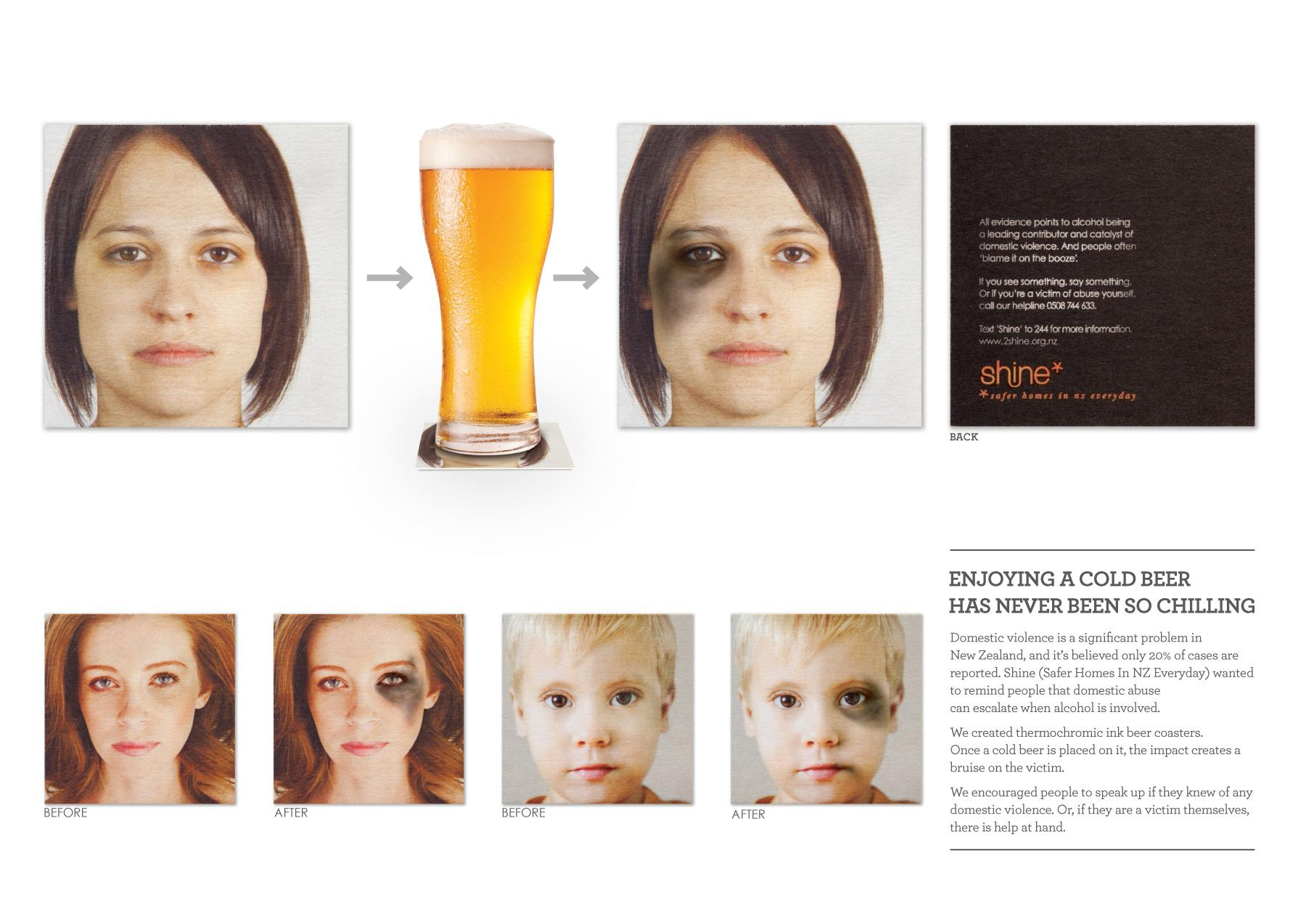 Shine Direct Ad -  Beer Coasters