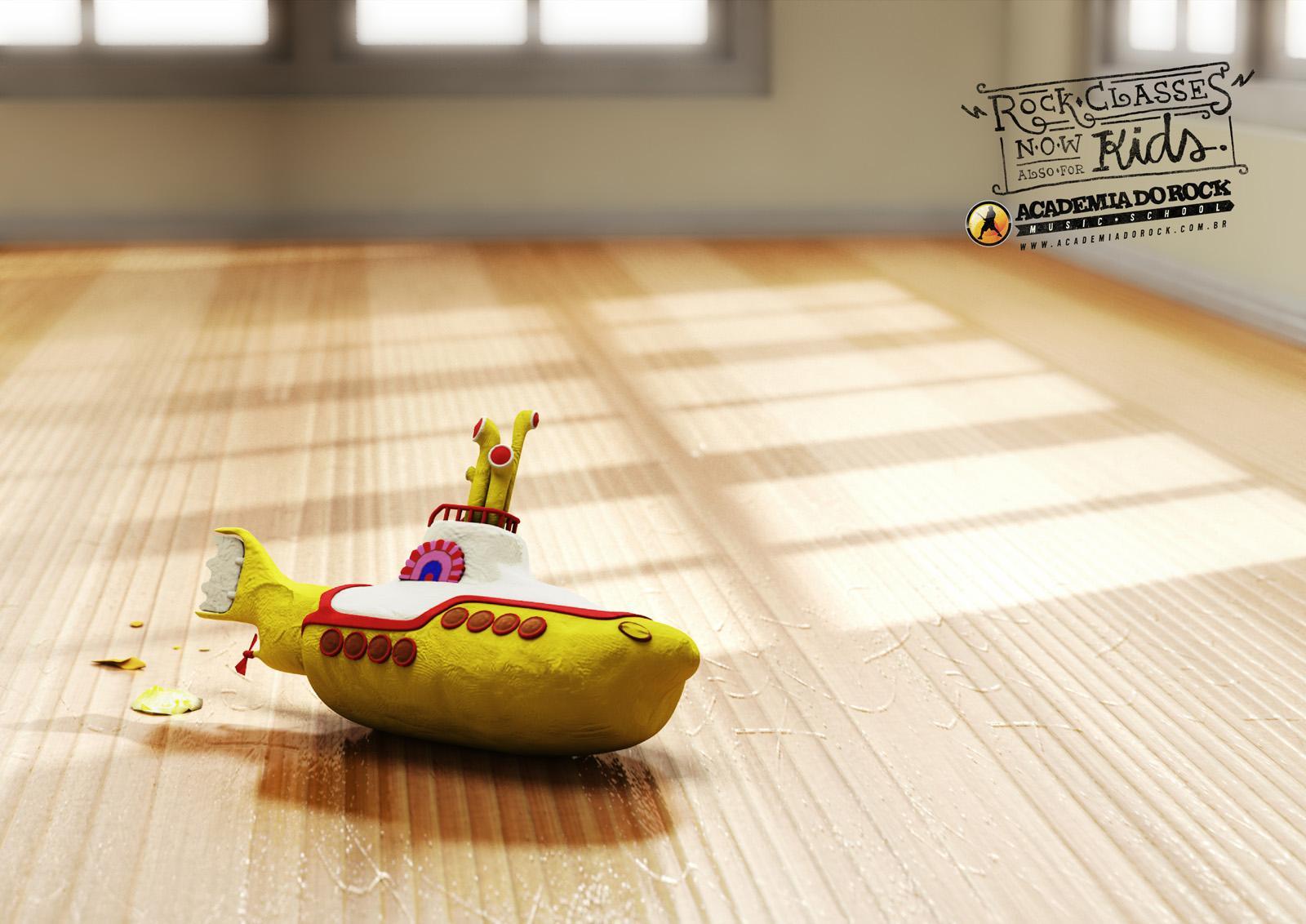 Academia do Rock Print Ad -  Submarine