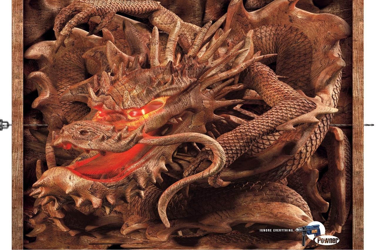 Powner Print Ad -  Dragon