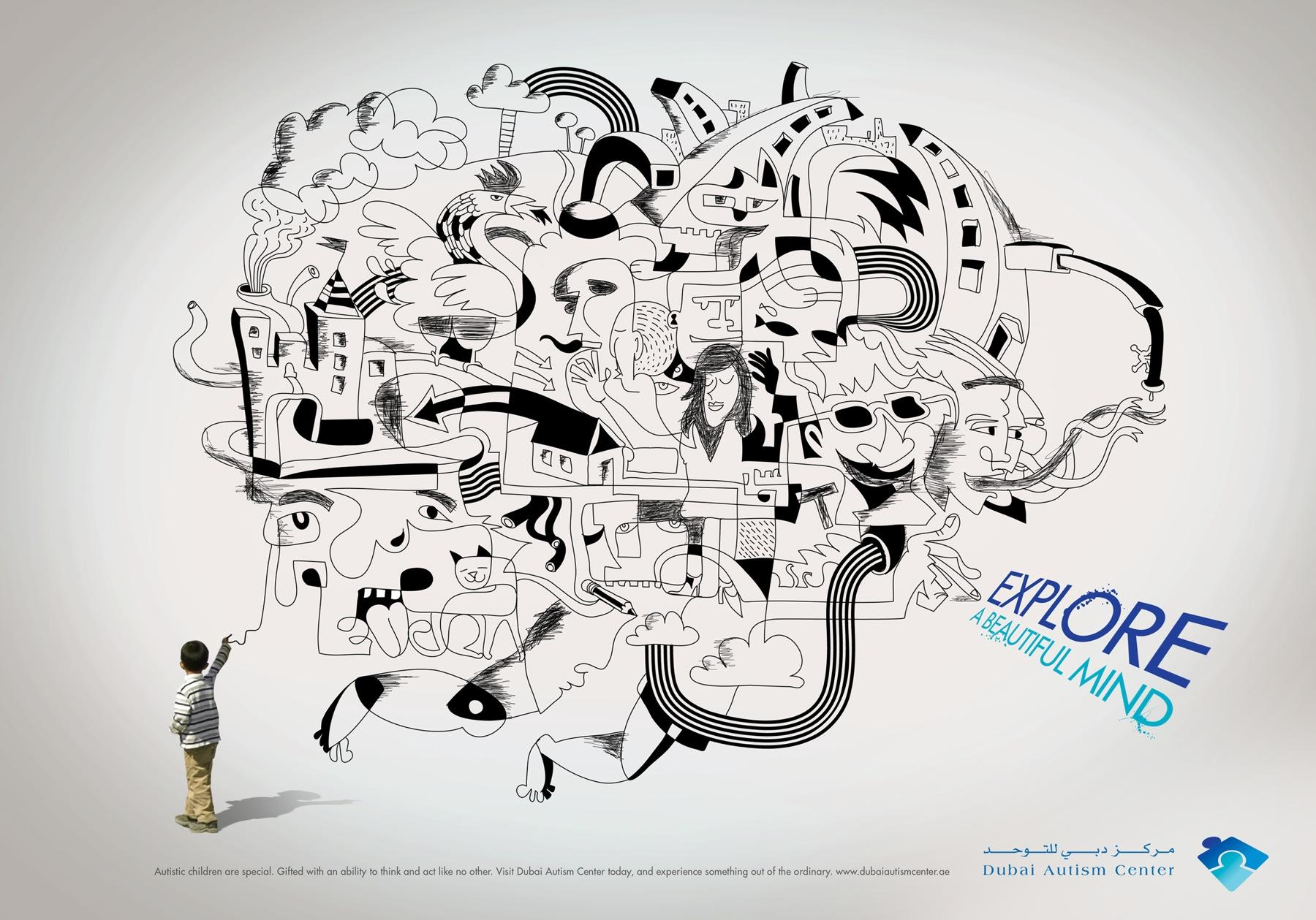 Dubai Autism Center Print Ad -  Beautiful Mind, 2