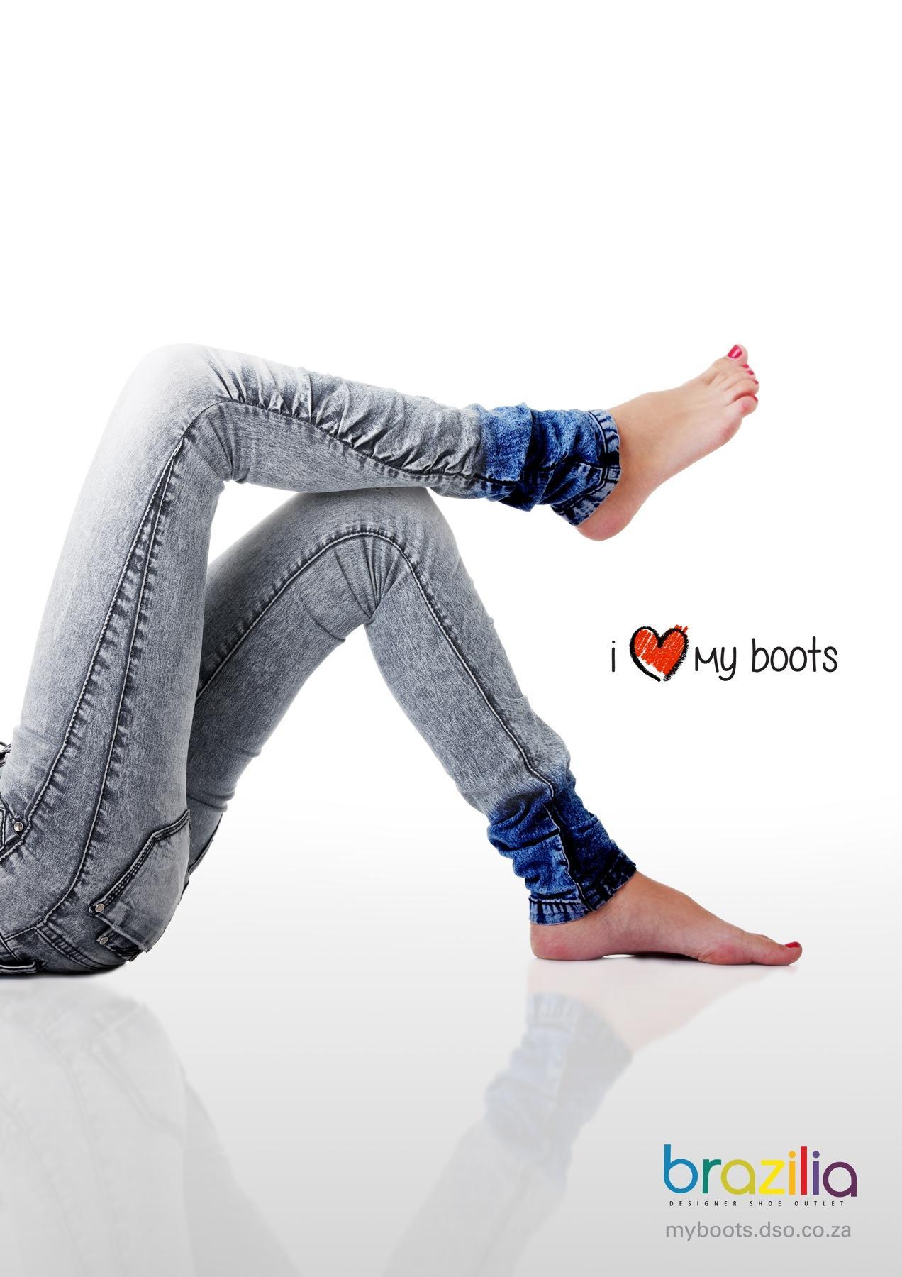 Brazilia Print Ad -  I Love My Boots, 1