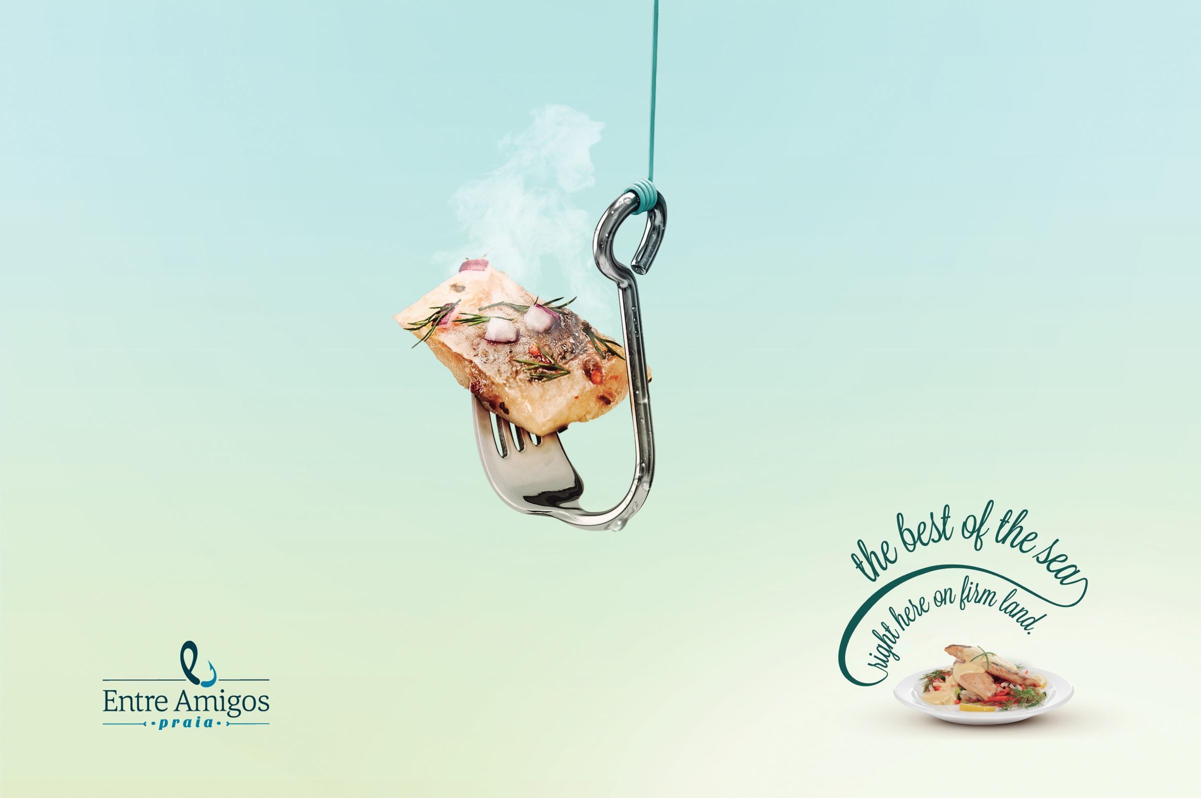 Entre Amigos Praia Print Ad -  Fork