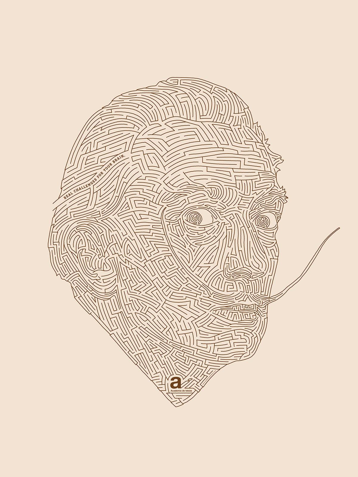 Academia de Ideias Print Ad -  Labyrinth, Dali