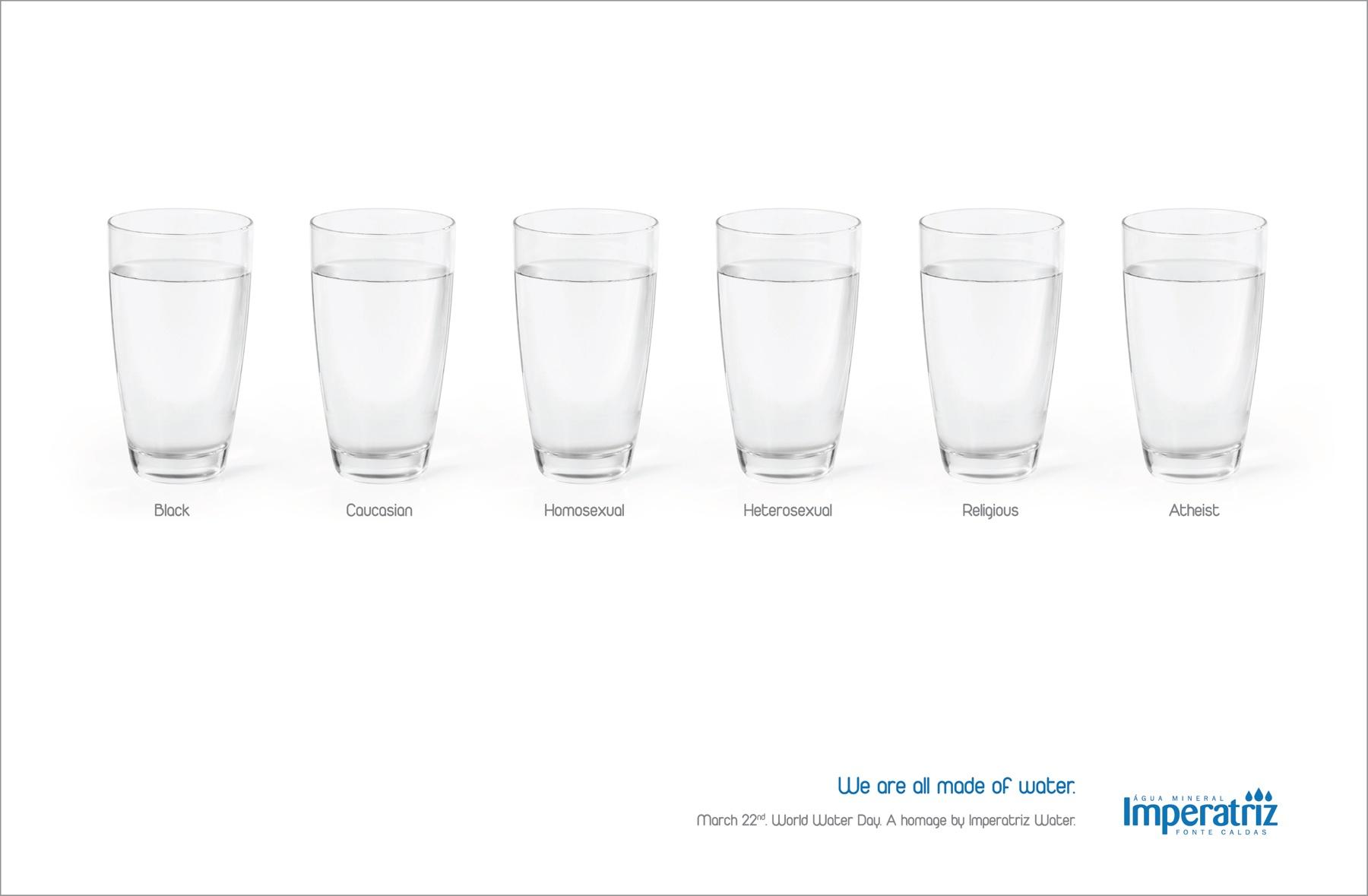 Imperatriz Water Print Ad -  Water glasses