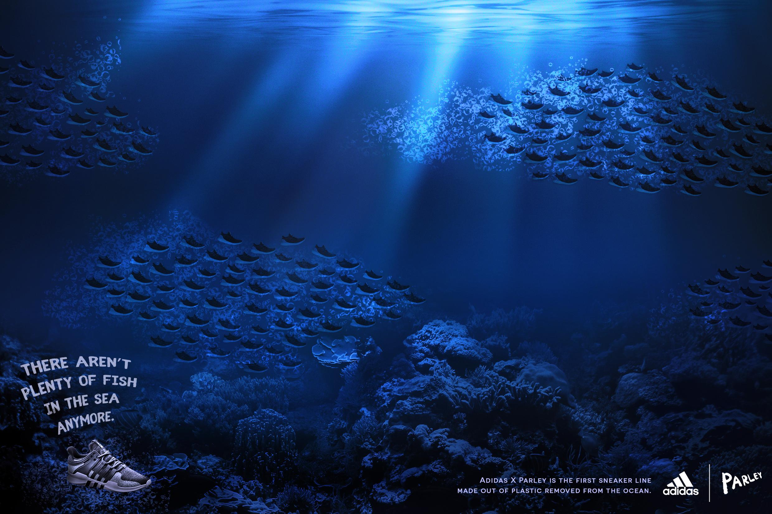 Adidas Print Ad - There Aren't Plenty of Fish in the Sea Anymore