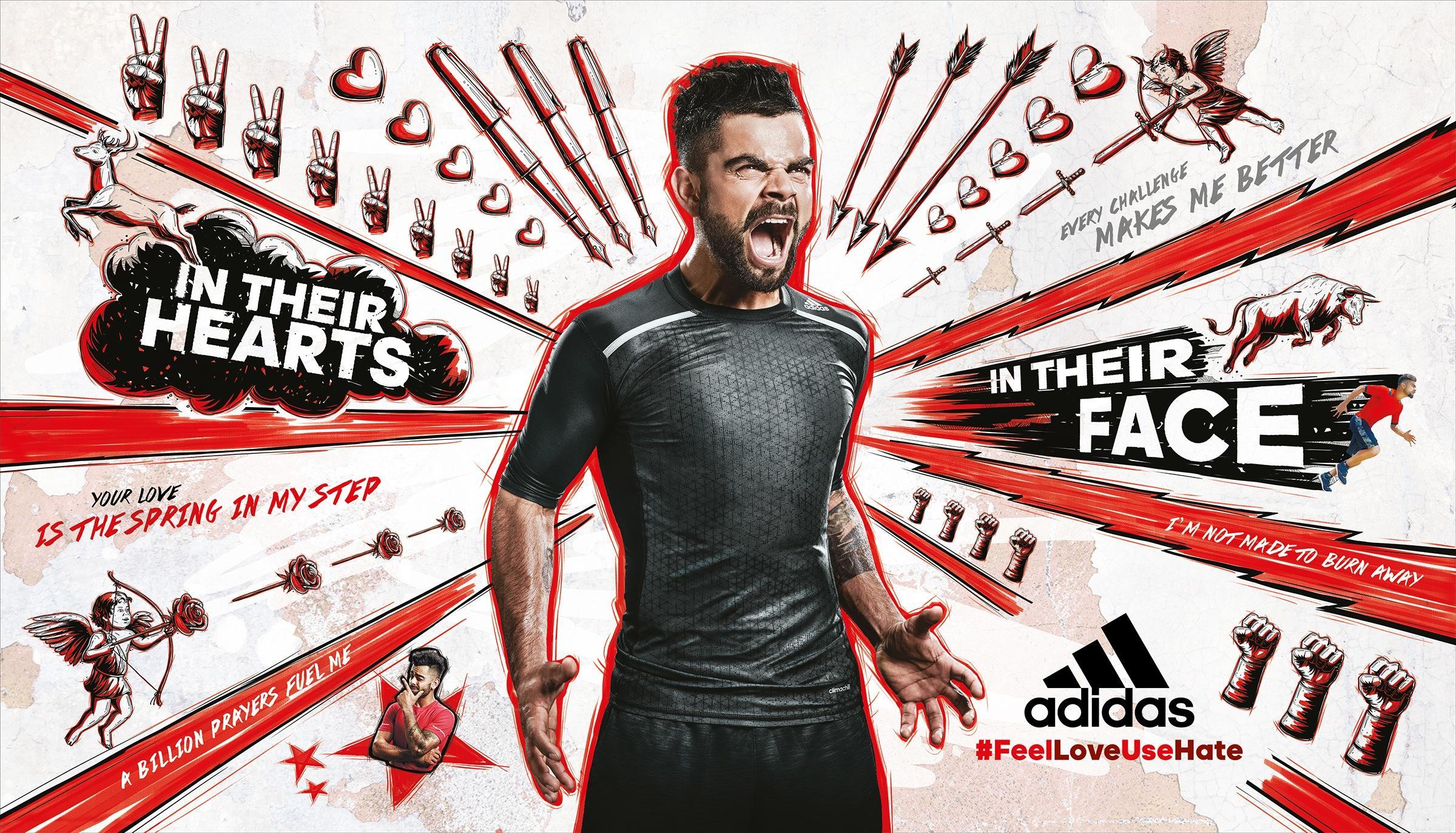Adidas Print Ad -  Red