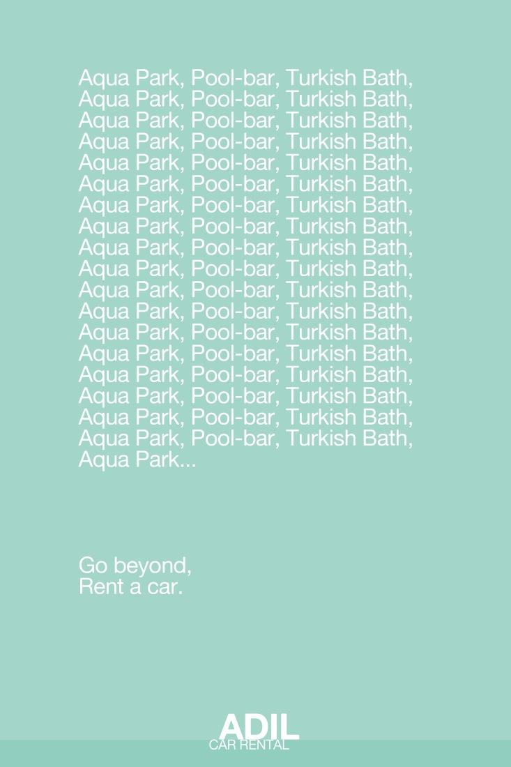 Adil Car Rental Print Ad -  Pool
