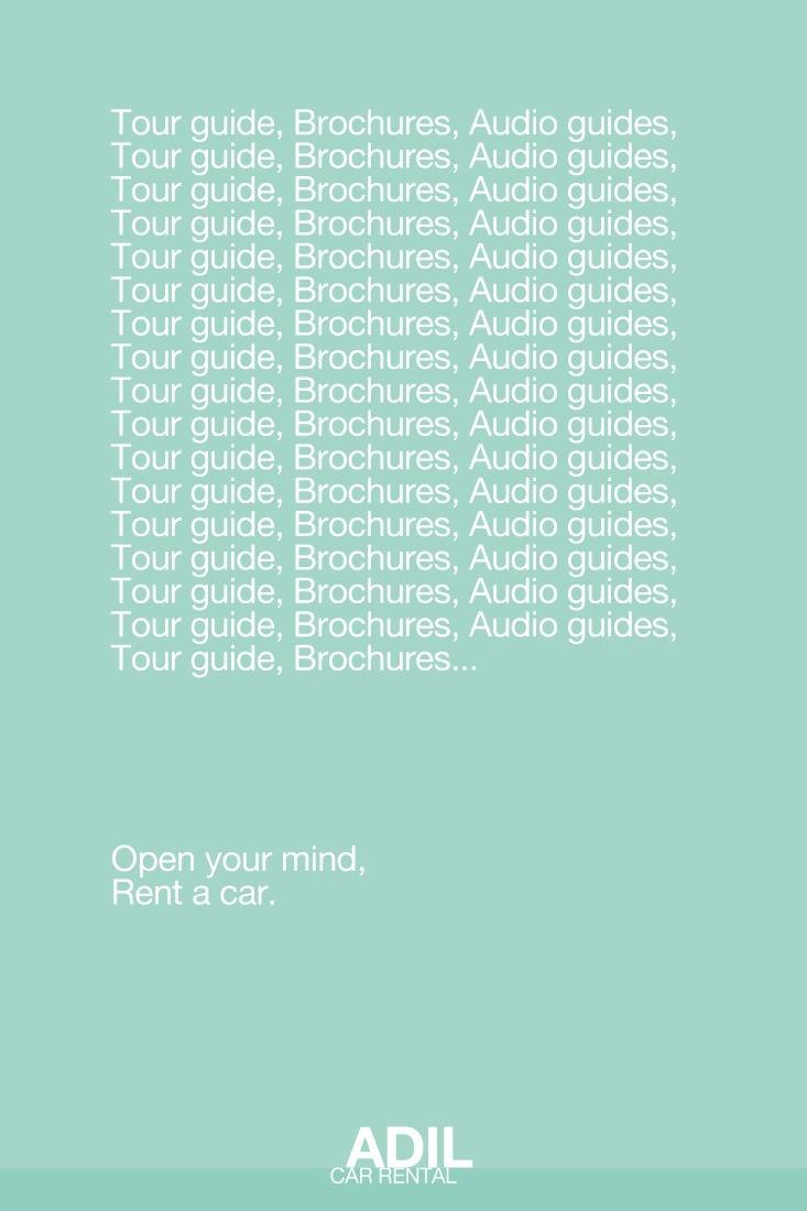 Adil Car Rental Print Ad -  Guide