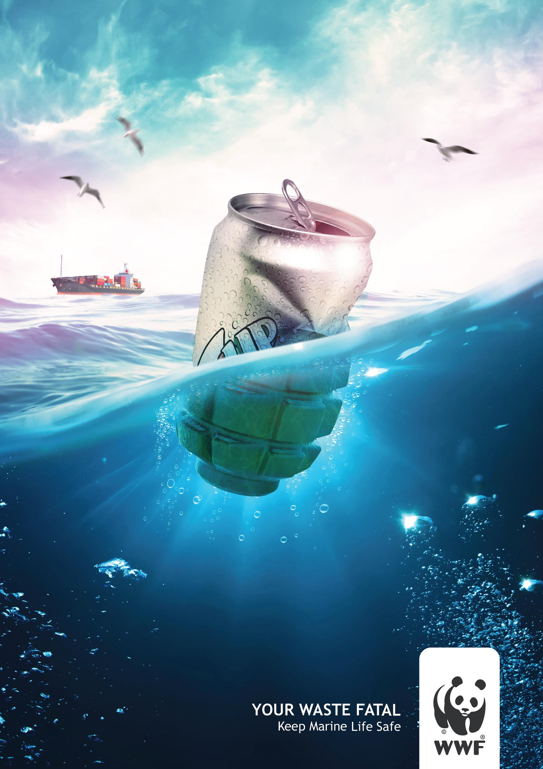 WWF Print Ad - Pollution of the Seawater, 2