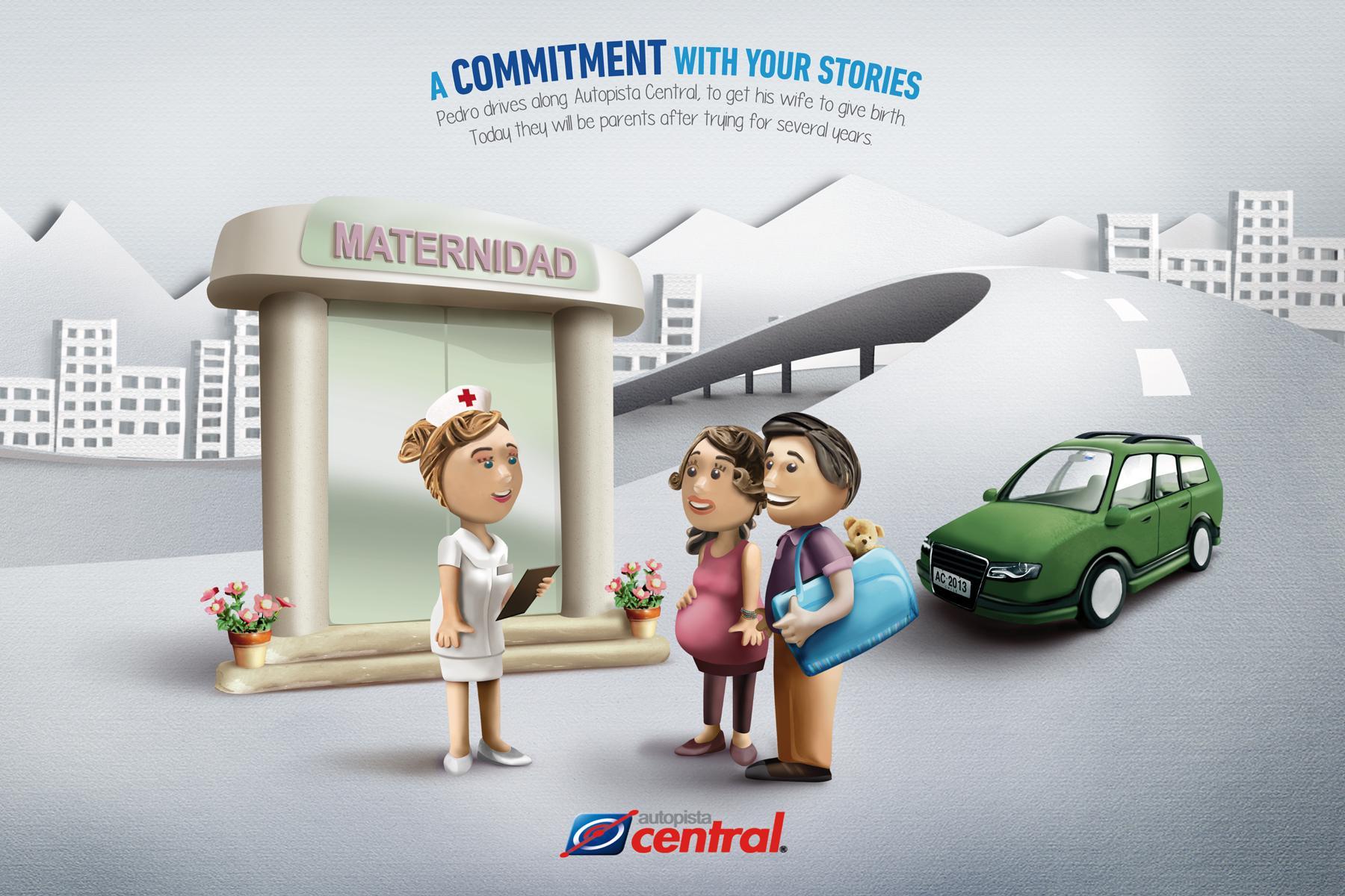Autopista Central Print Ad -  Birth