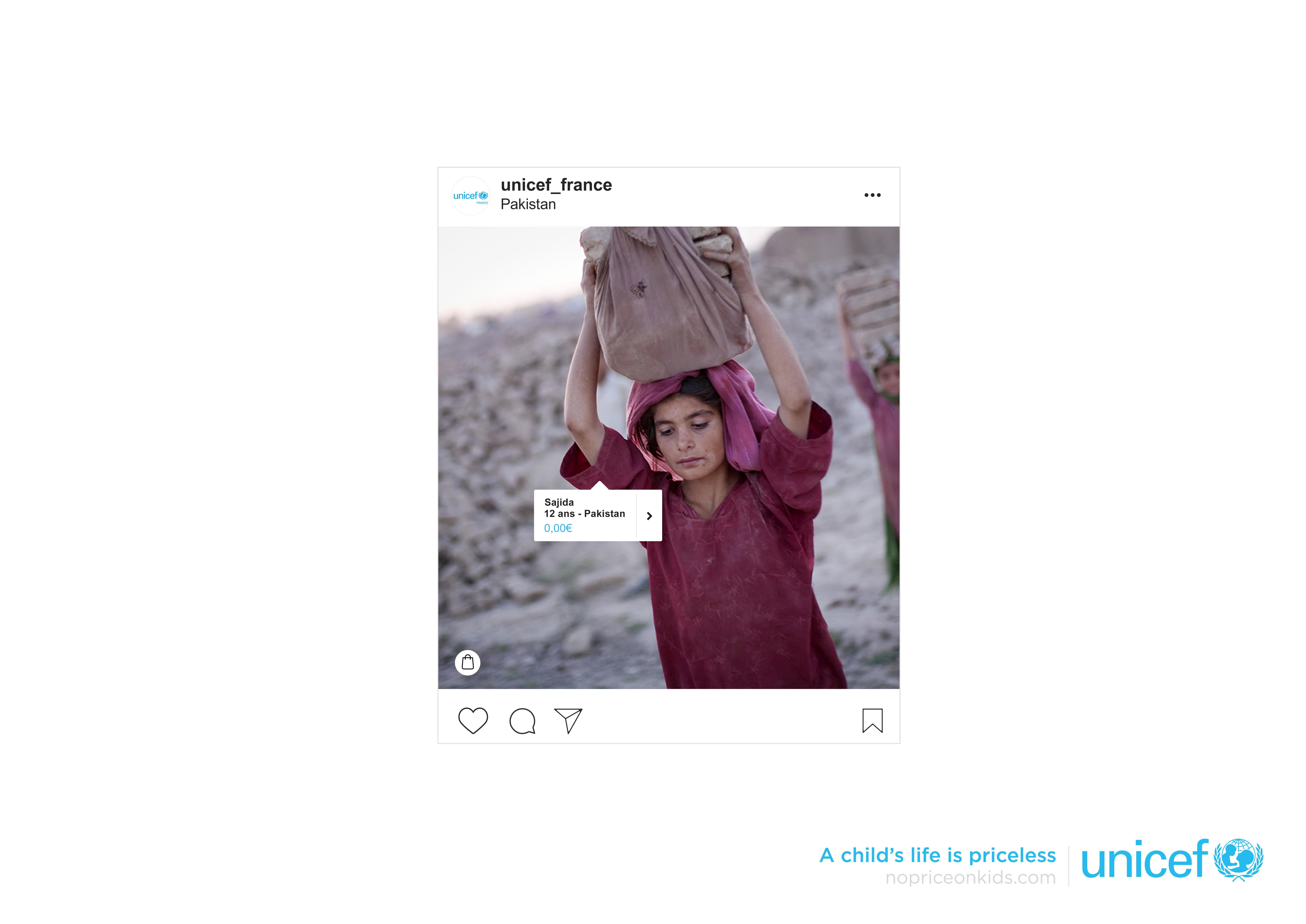 Unicef Digital Ad - #NoPriceOnKids