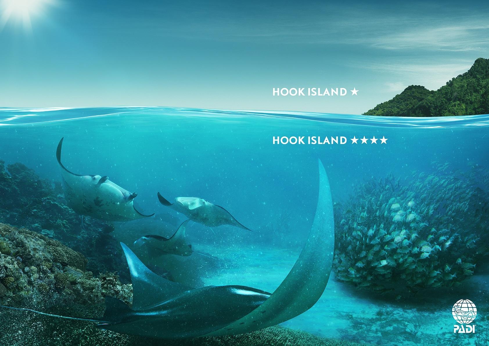 PADI Print Ad -  Hook Island