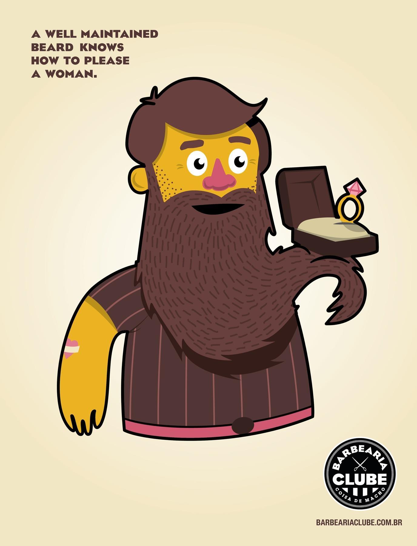 Barbearia Clube Print Ad -  Ring