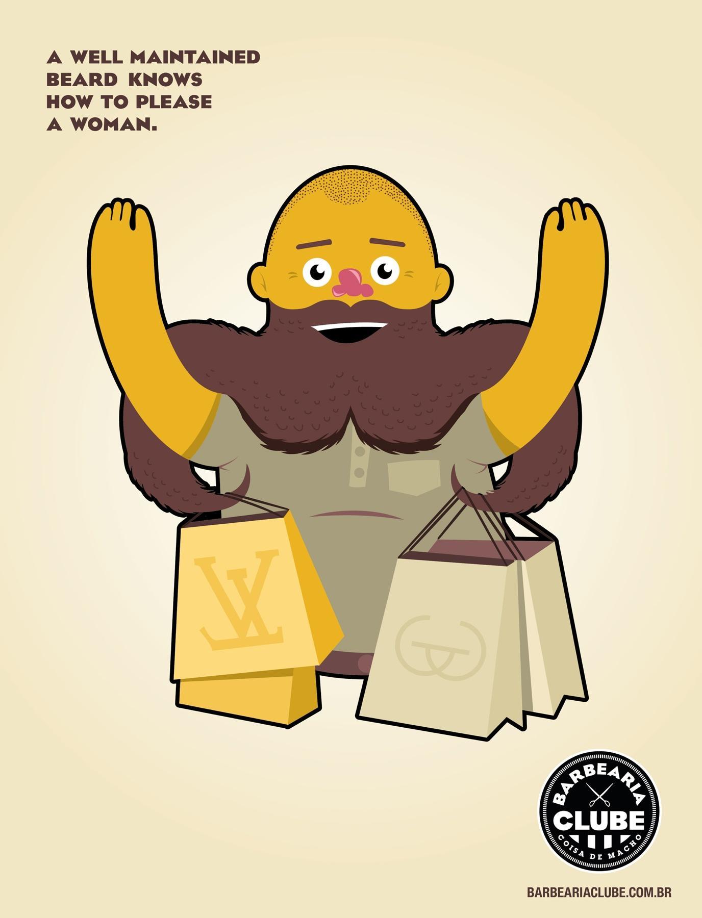 Barbearia Clube Print Ad -  Bags