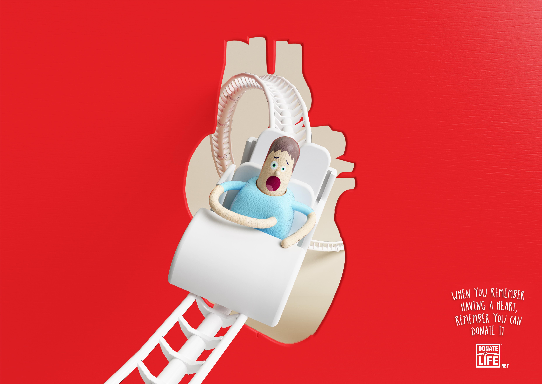 Donate Life Print Ad - Remember - Heart