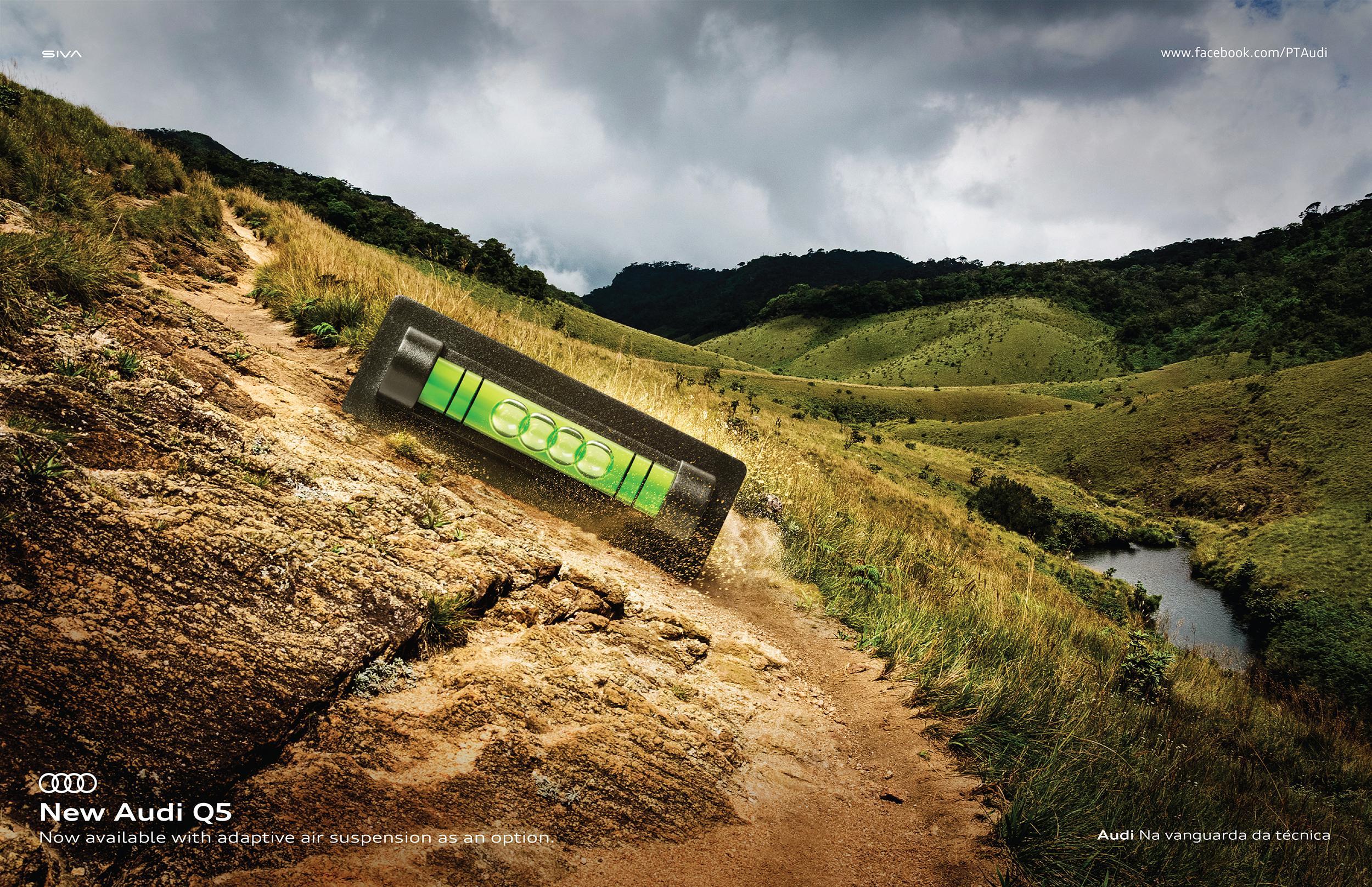 Audi Print Ad - Mountain