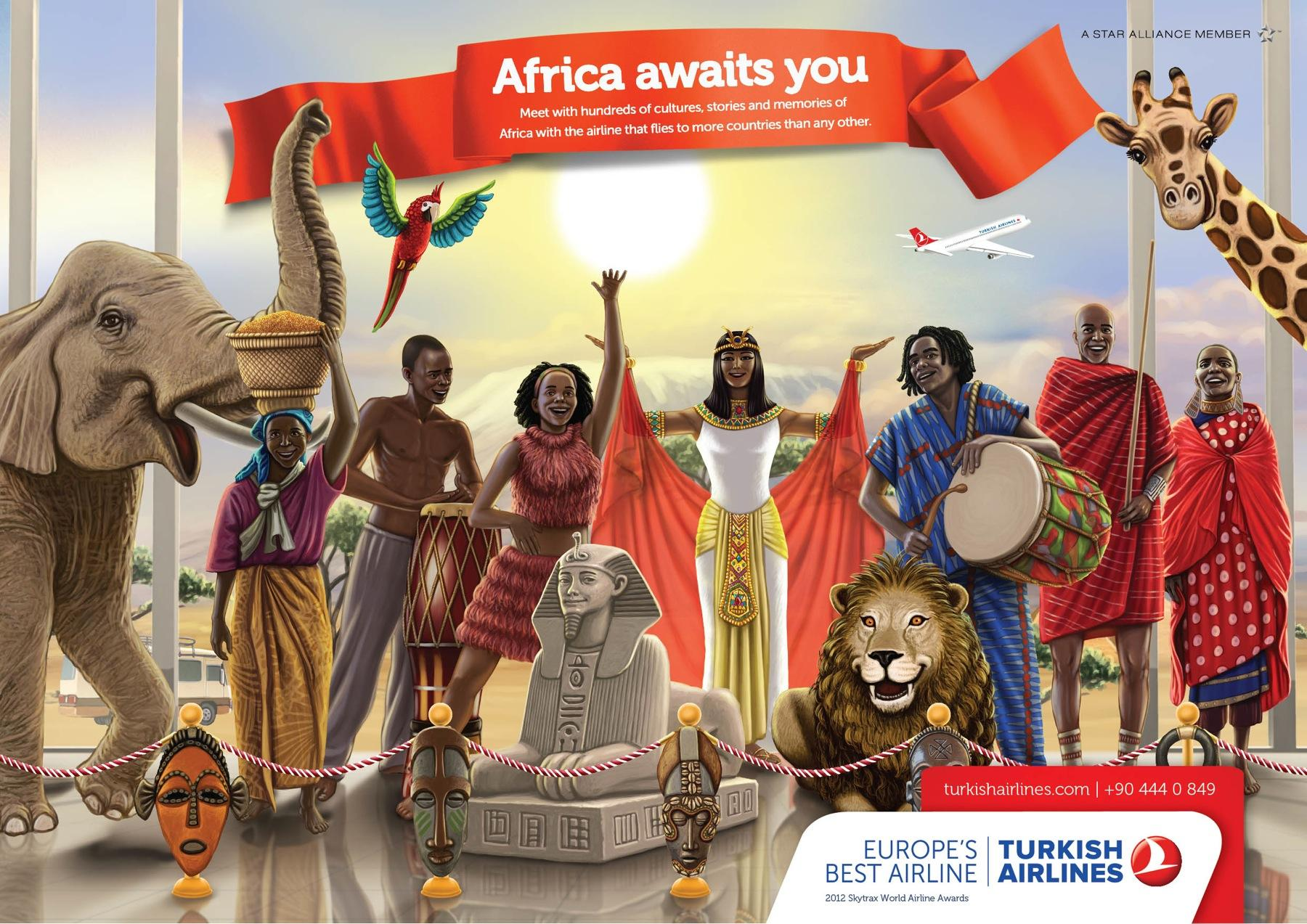Turkish Airlines Print Ad -  Africa