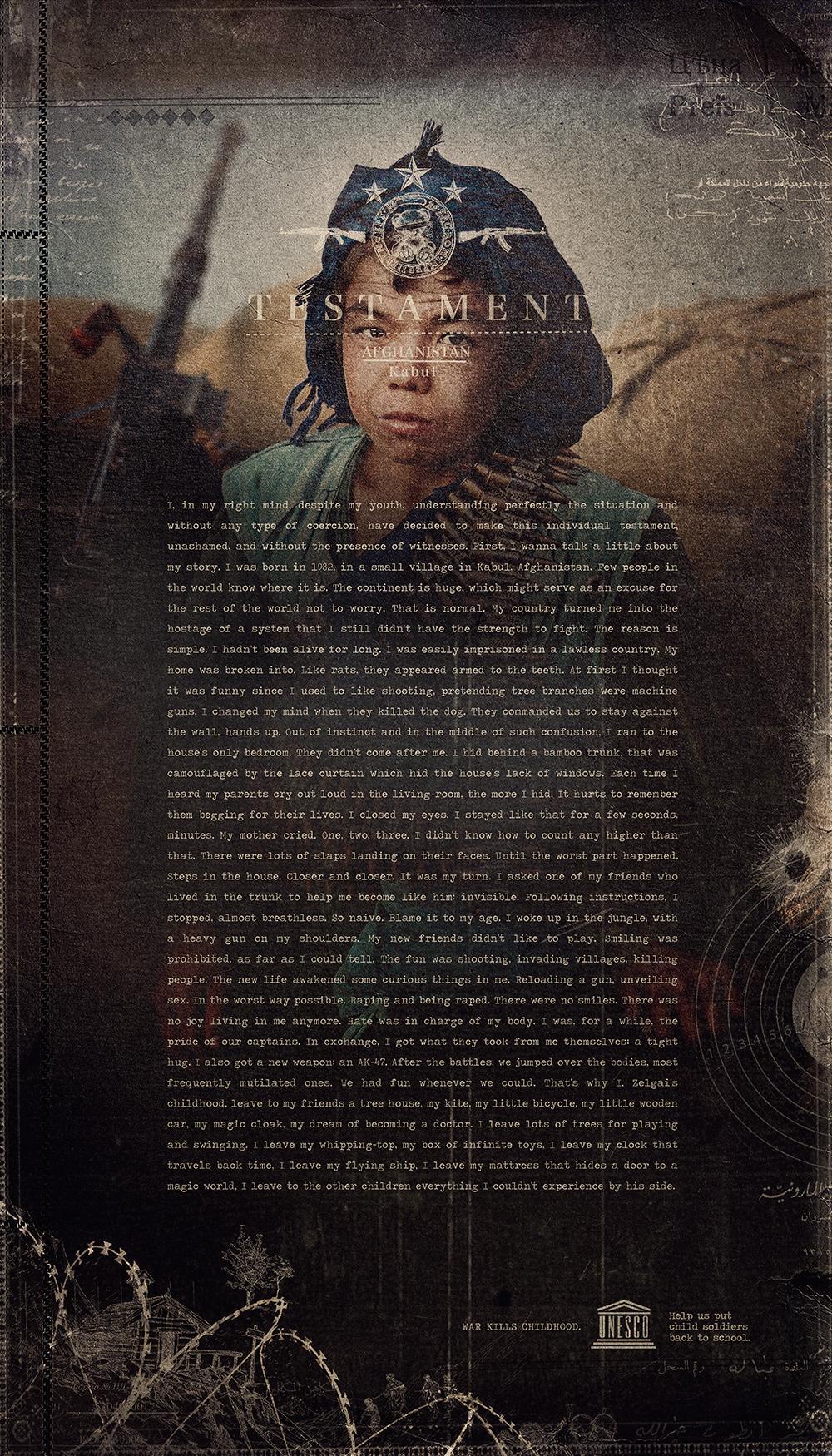 UNESCO Print Ad -  Child soldier, 1