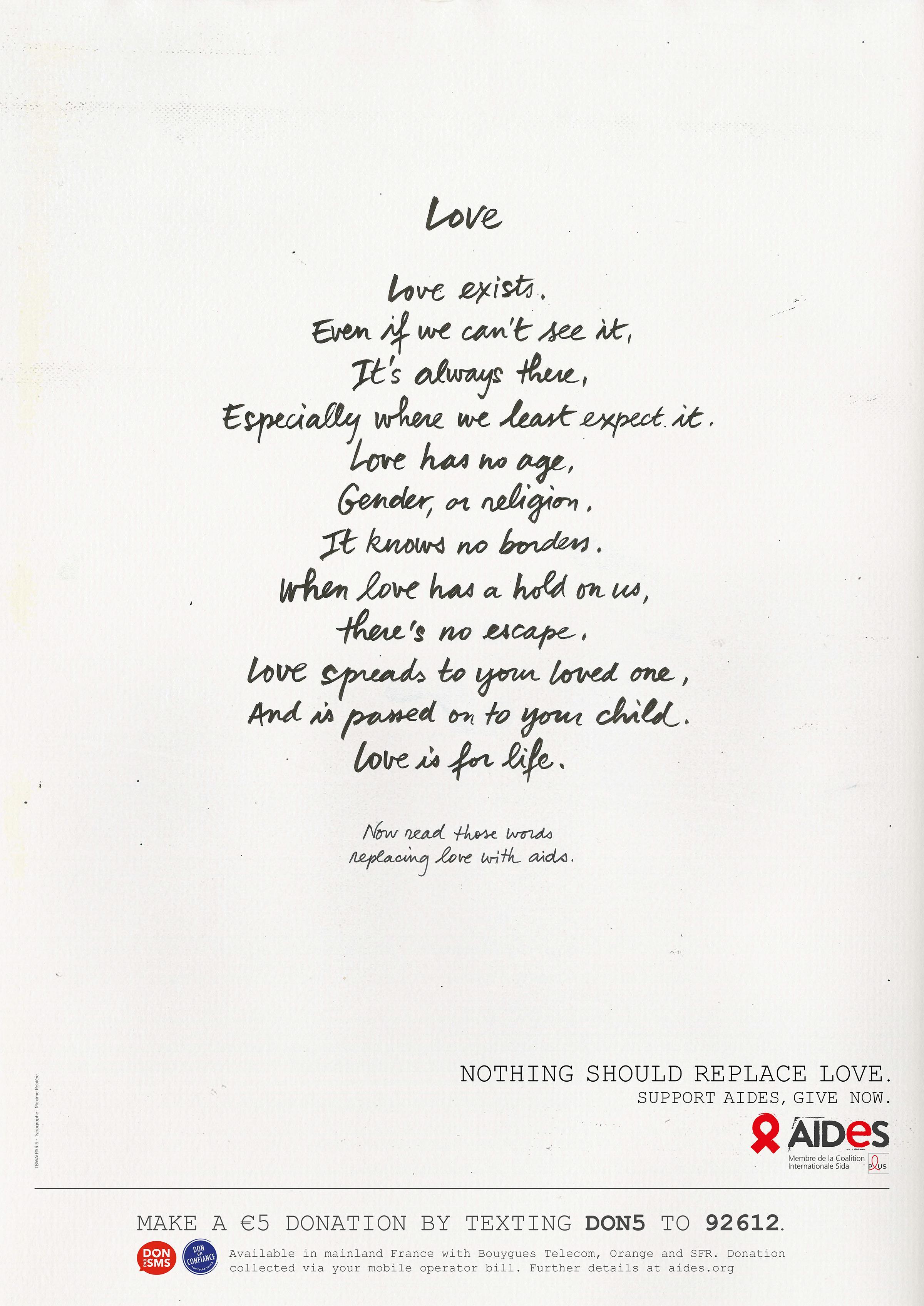 Aides Print Ad - Love