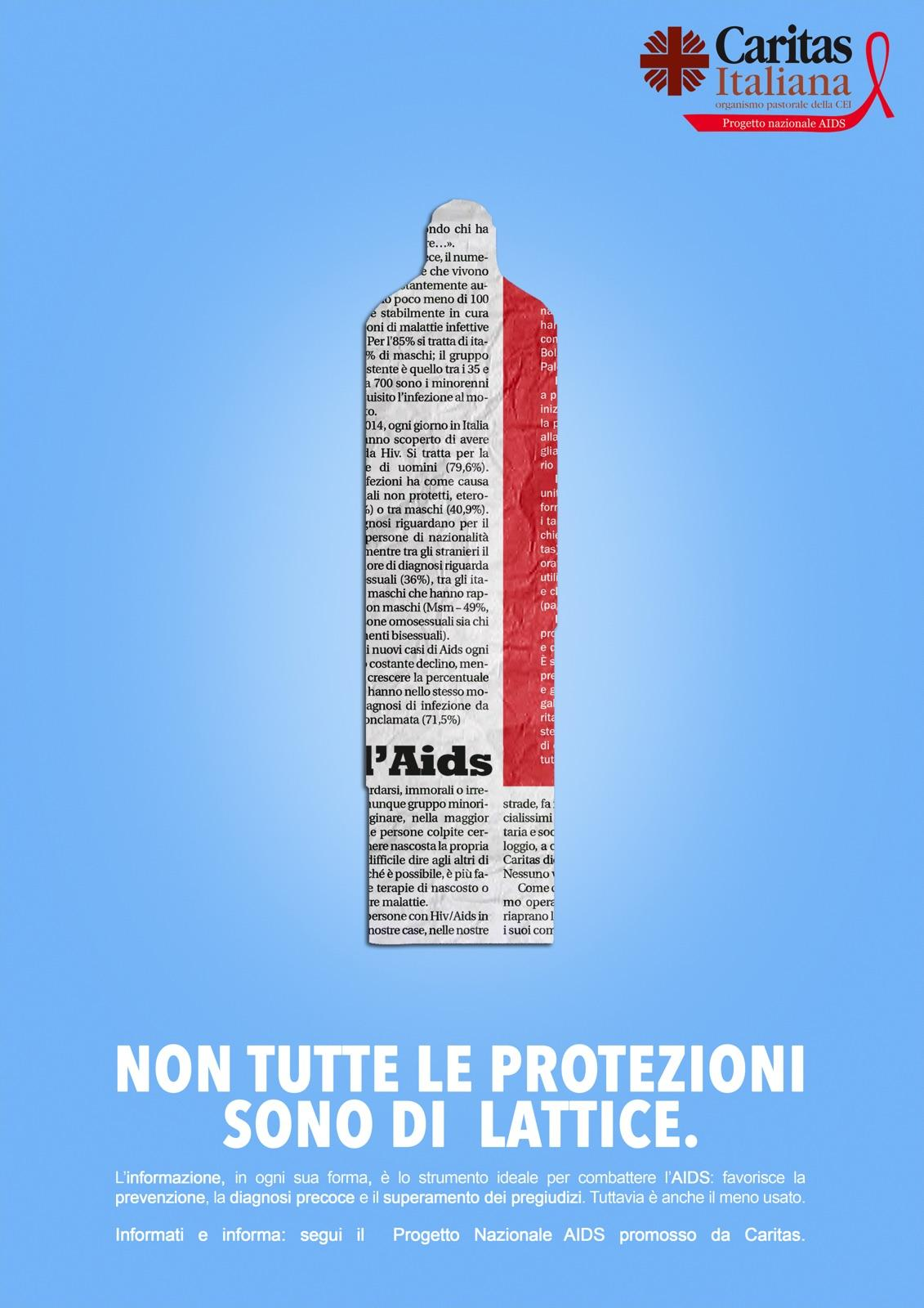 Caritas Italiana Print Ad - Not All Protections Are Made of Latex