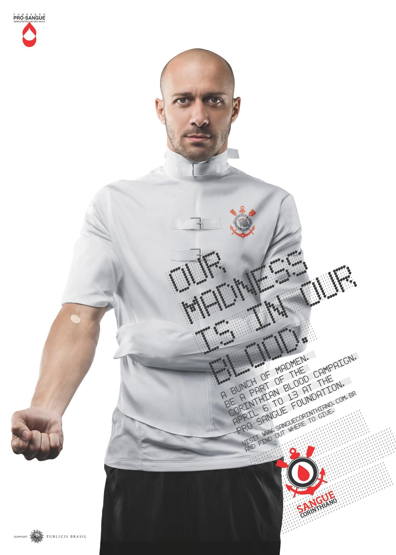 Sangue Corinthiano Print Ad -  Our madness is in our blood, Alessandro