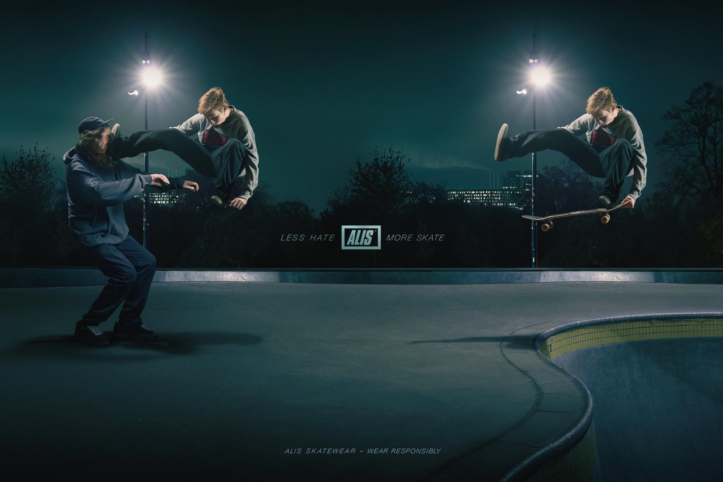 Alis Print Ad - Less Hate – More Skate, 2