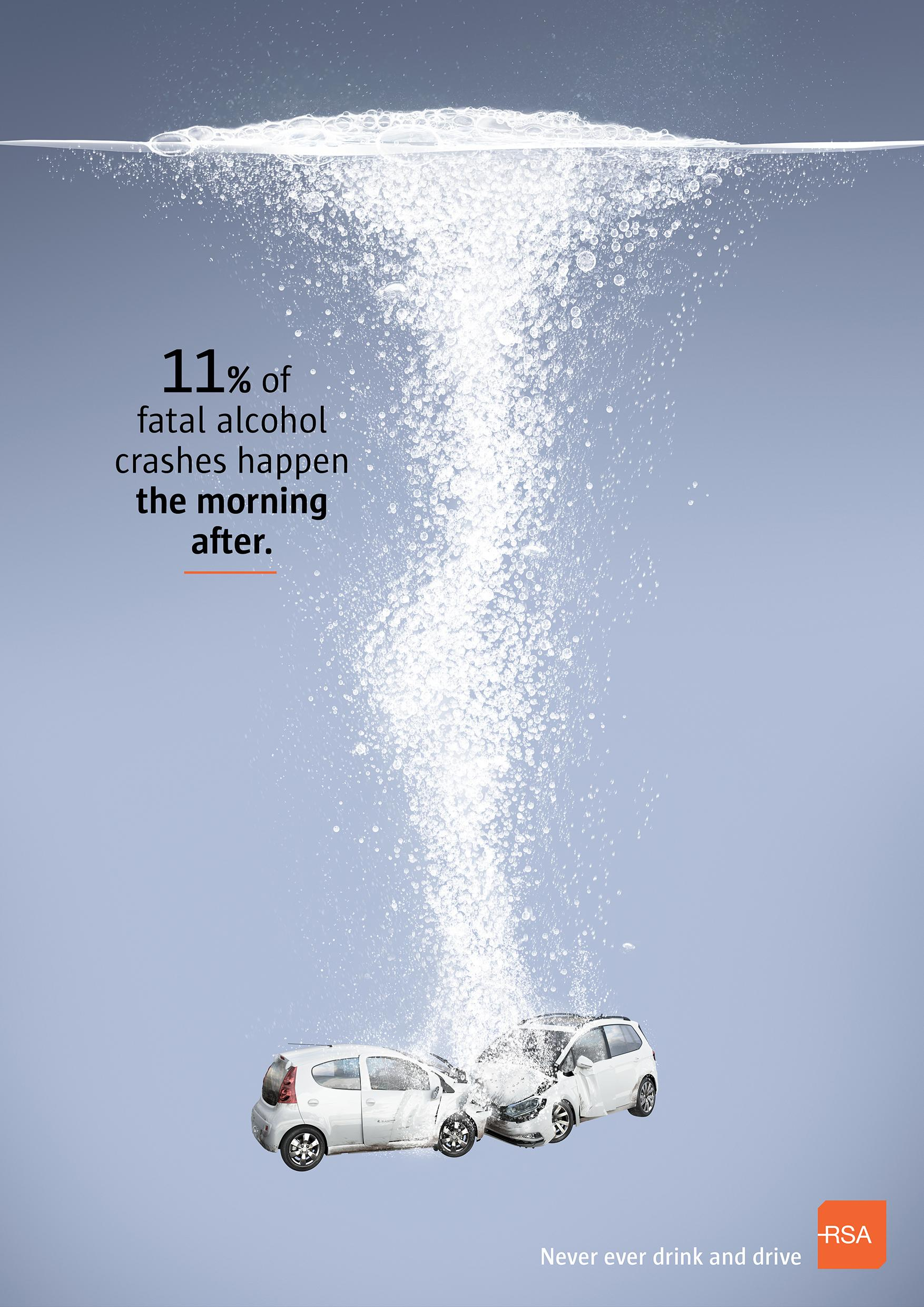 Road Safety Authority Print Ad - Hangover