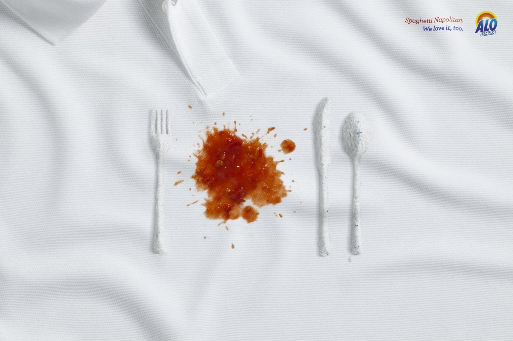 Alo Ultra Print Ad -  Spaghetti Napolitan