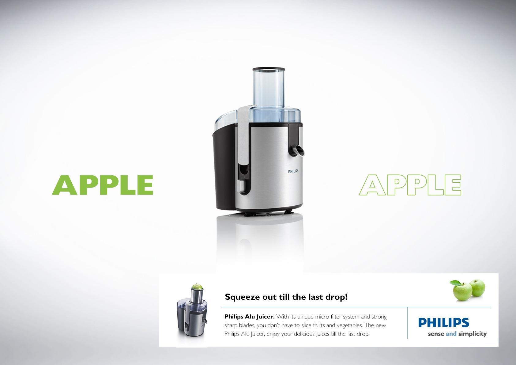 Philips Print Ad -  Apple
