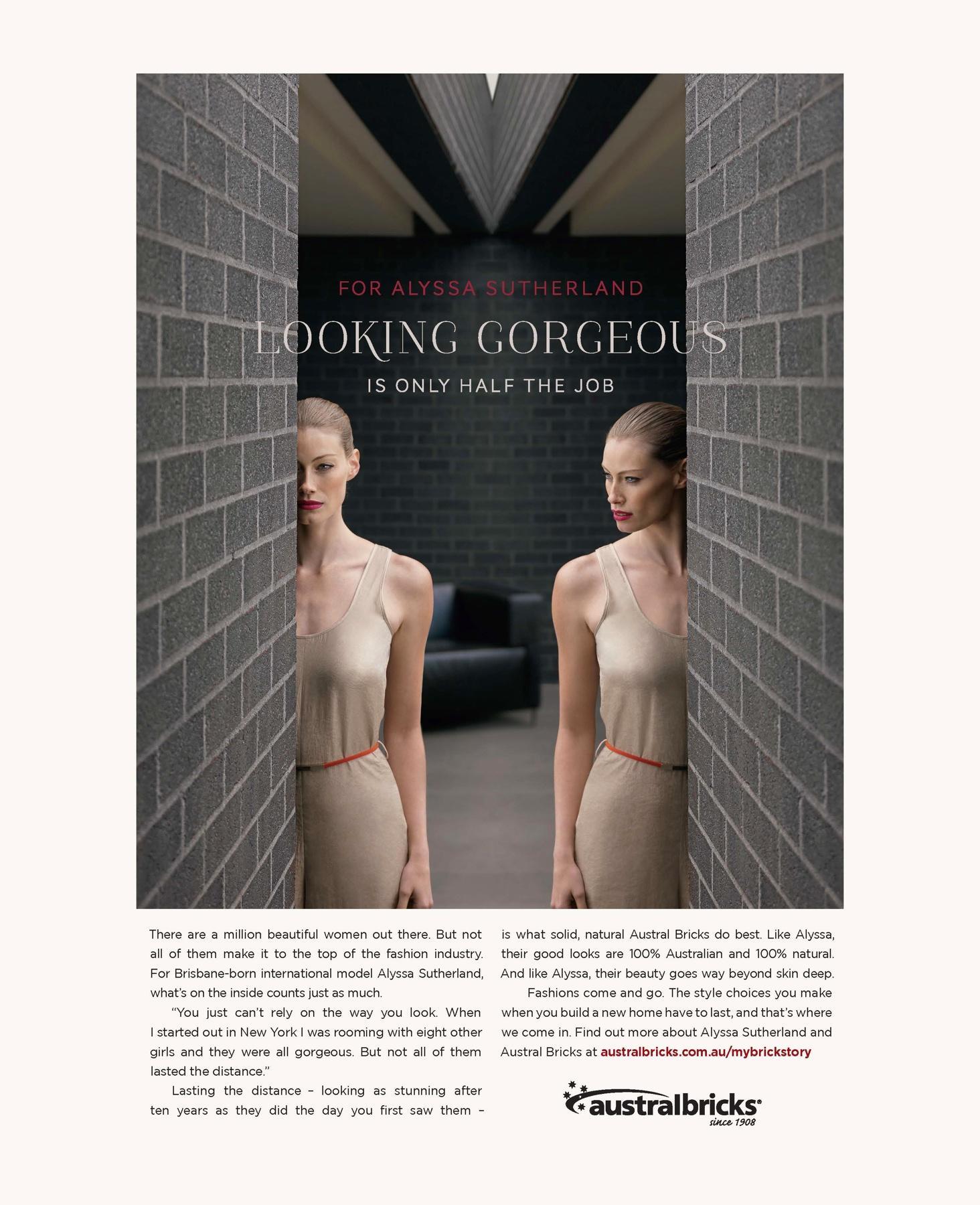 AustralBricks Print Ad -  Alyssa Sutherland