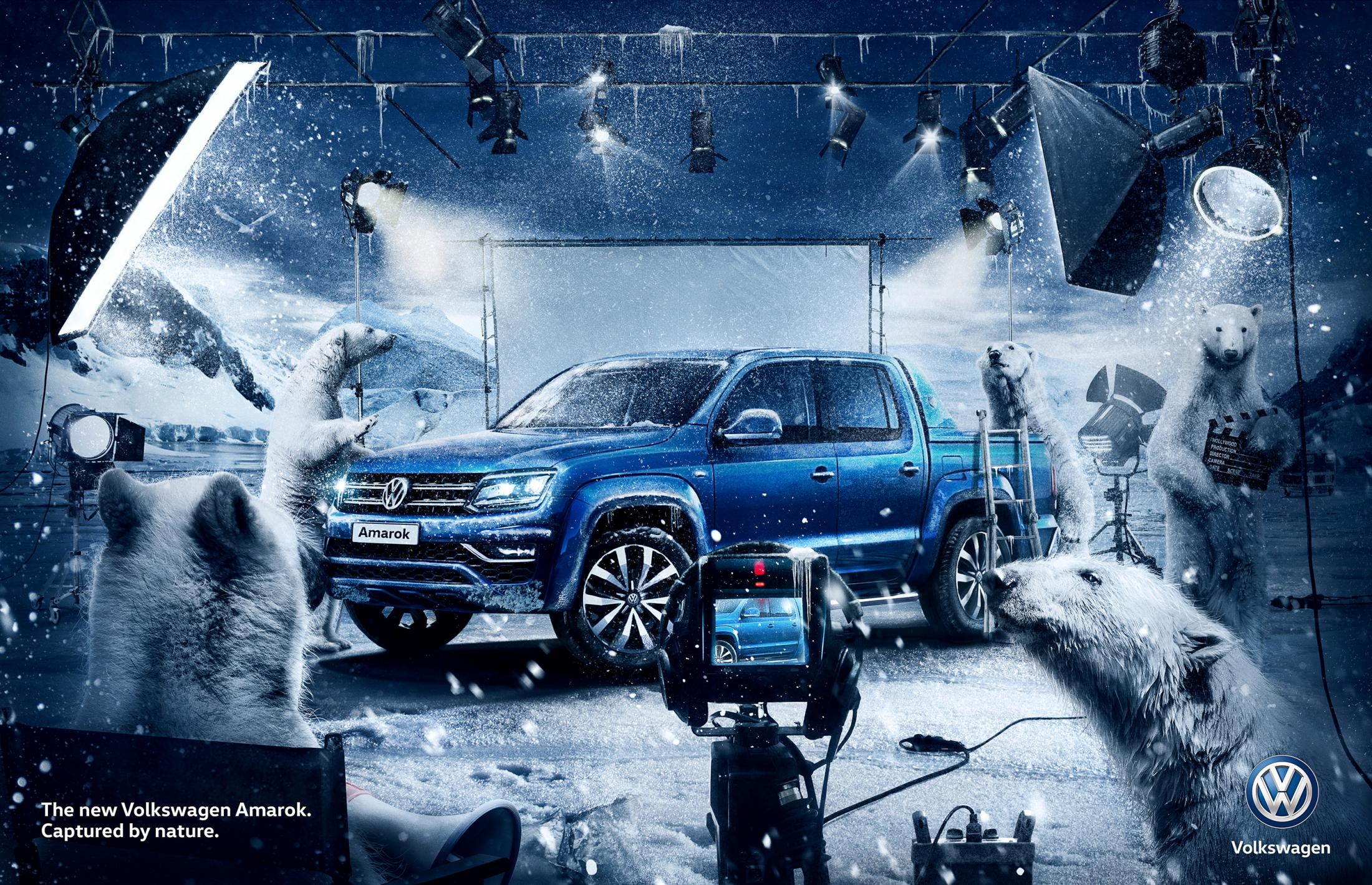 Volkswagen Print Ad - Captured by Nature - Bear