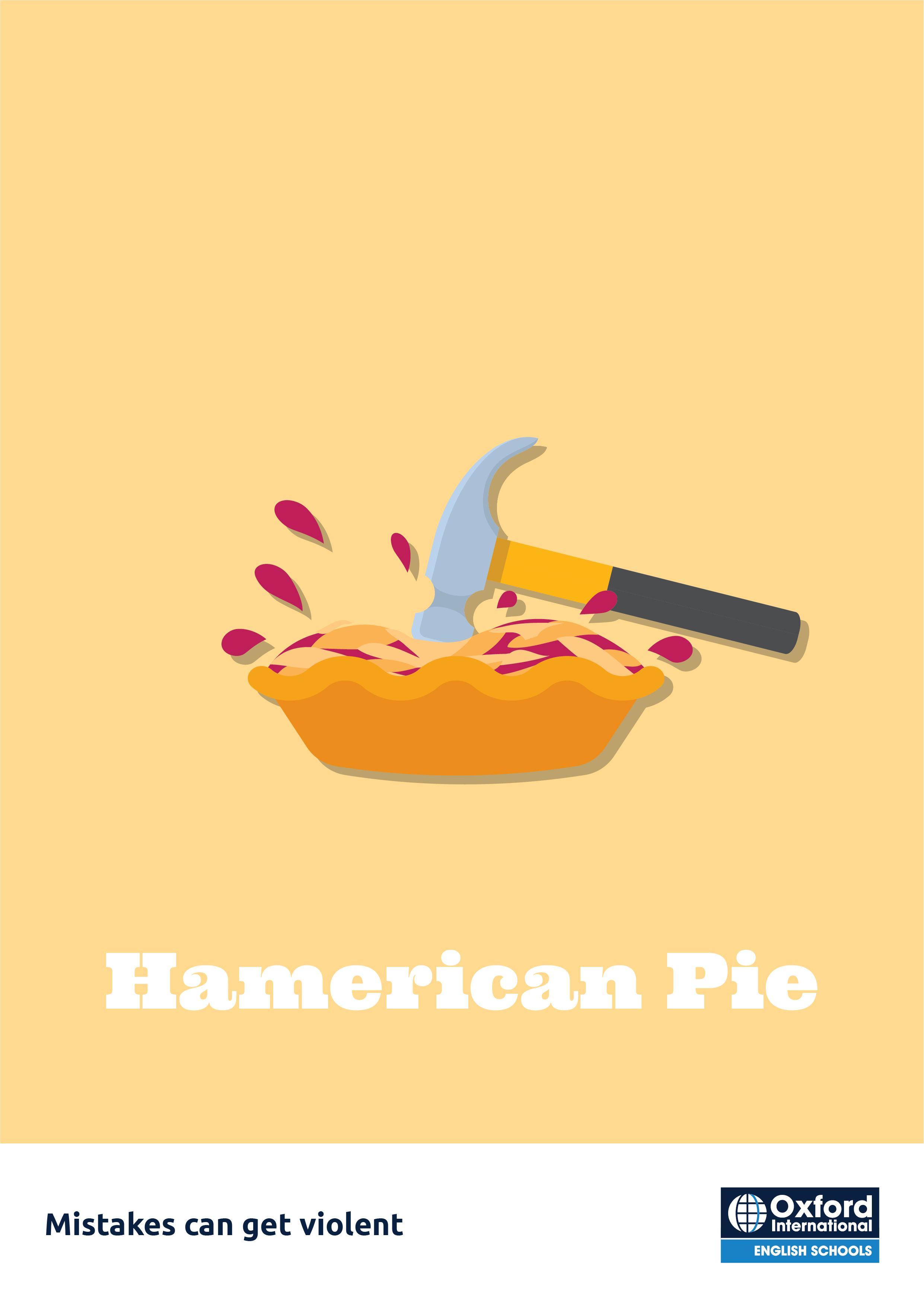 Oxford International English Schools Print Ad - American Pie