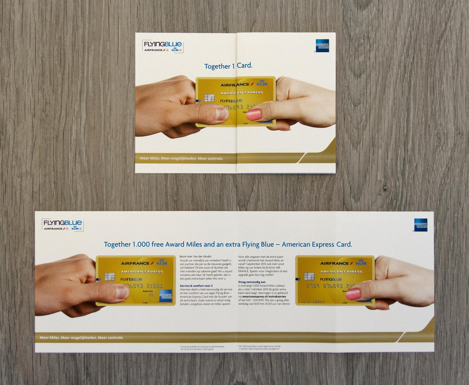 American Express Direct Ad -  Extra card gold