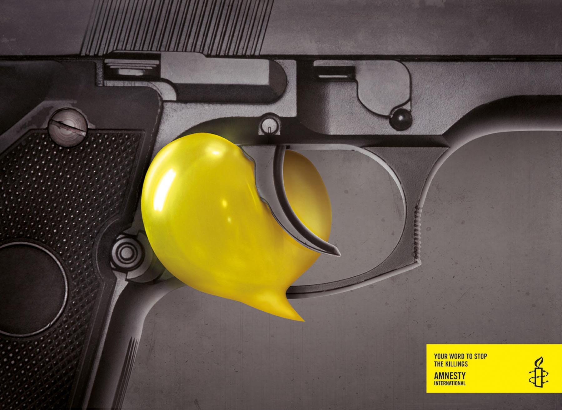 Amnesty International Print Ad -  Your word, Gun