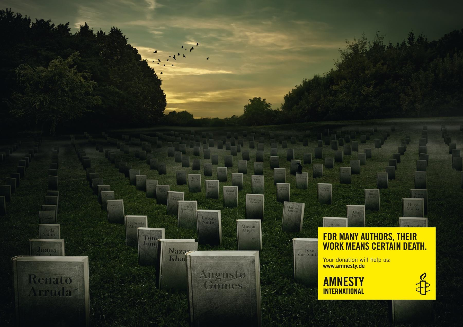 Amnesty International Print Ad -  Graveyard