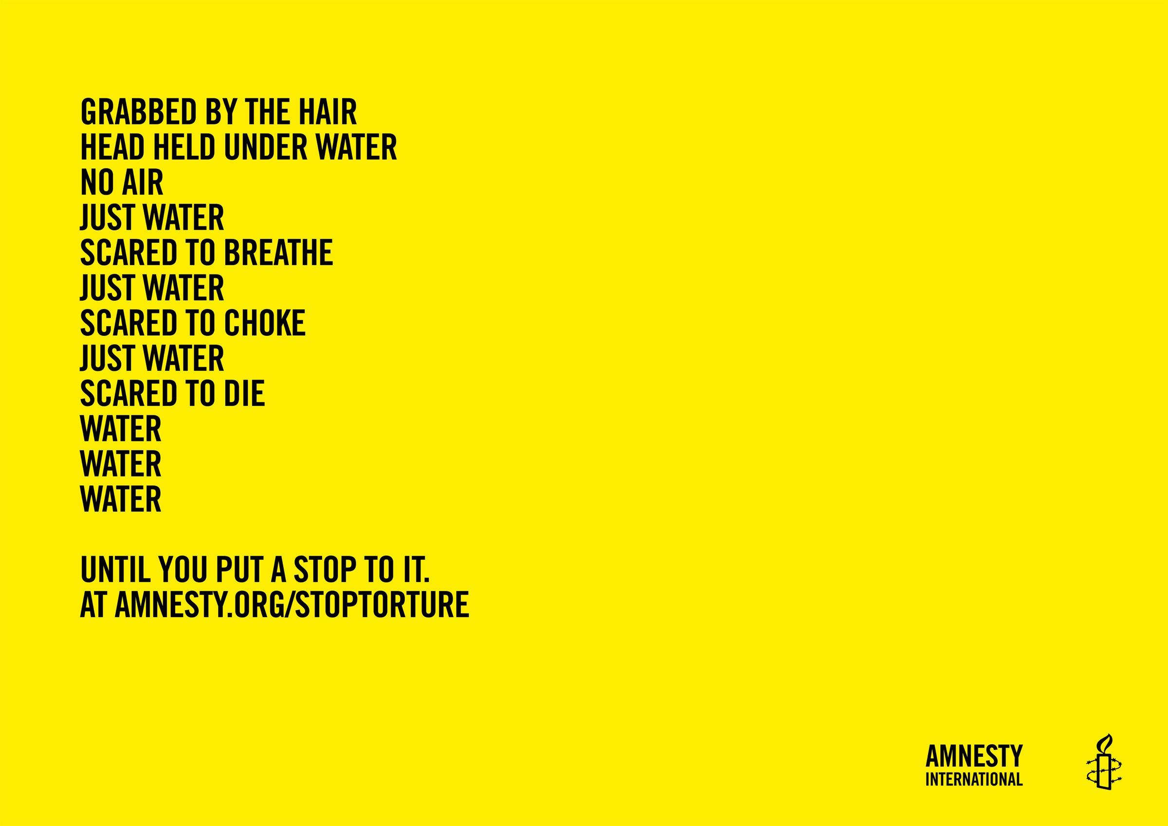 Amnesty International Print Ad -  Poems of horror, 4