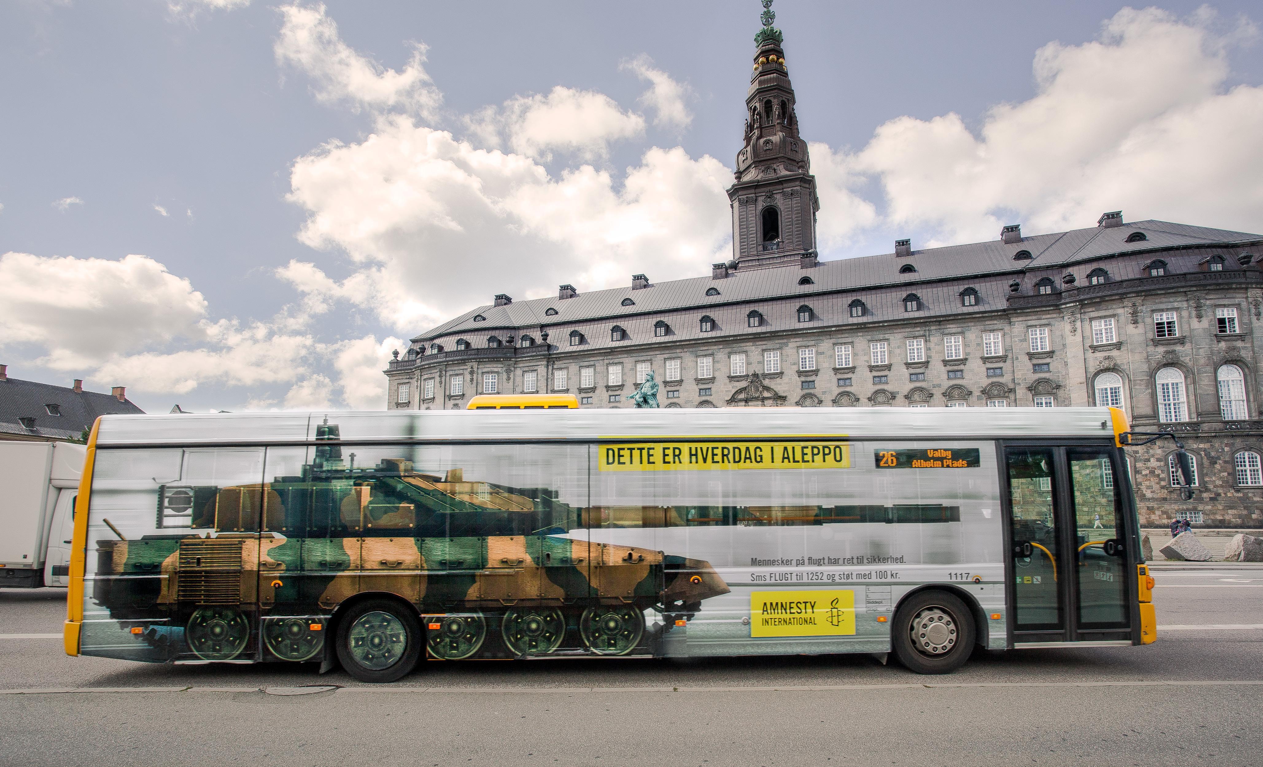 Amnesty International Outdoor Ad - Bus Tank