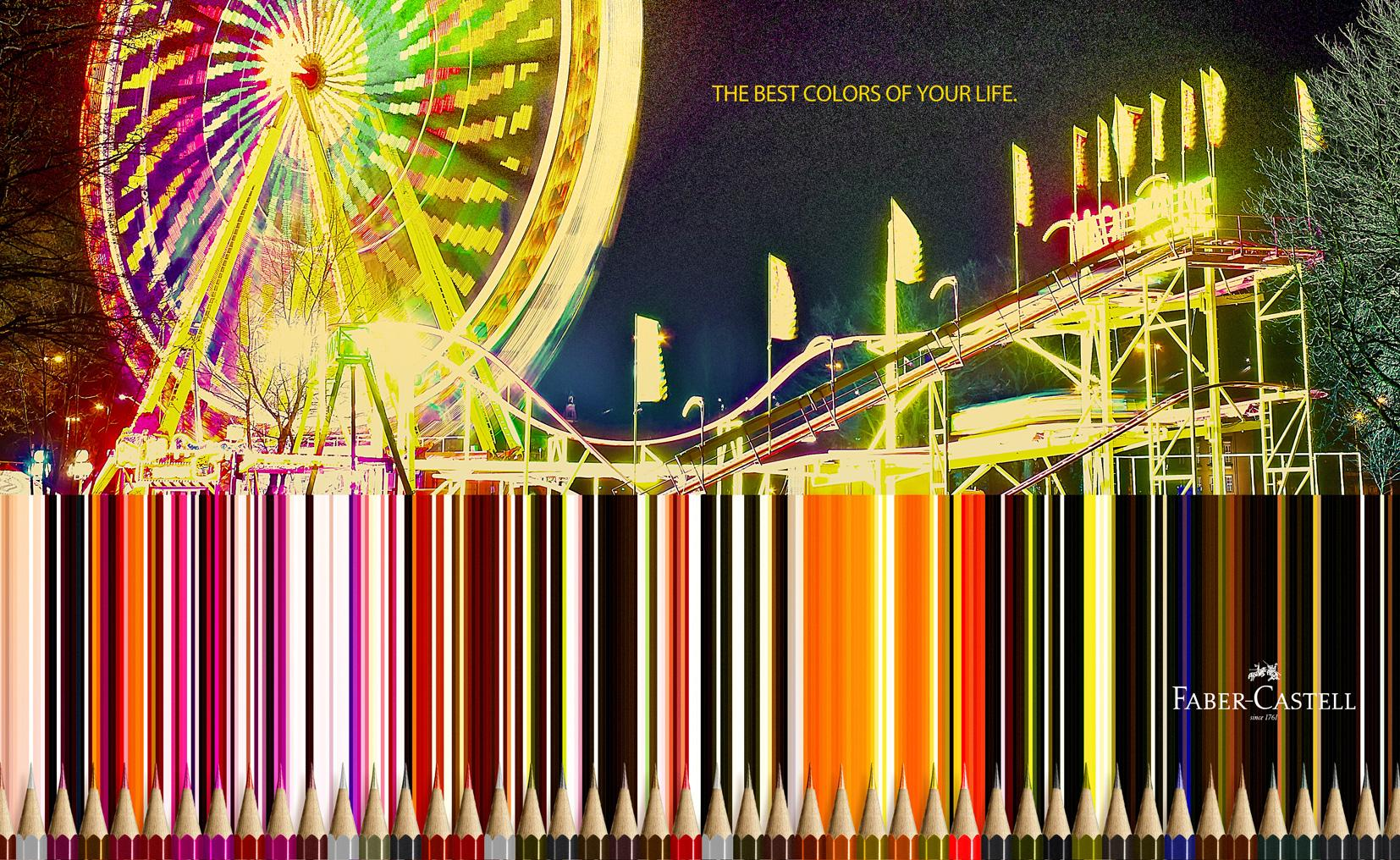 Faber-Castell Print Ad -  Amusement park