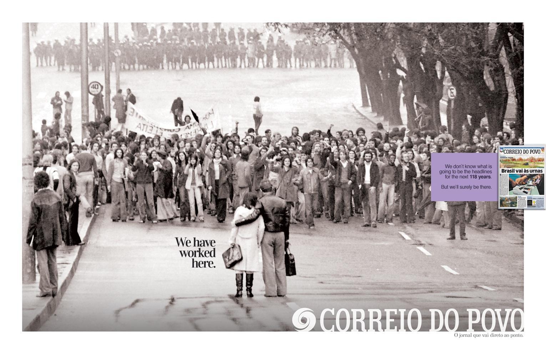 Correio Do Povo Print Ad -  Worked here, 2