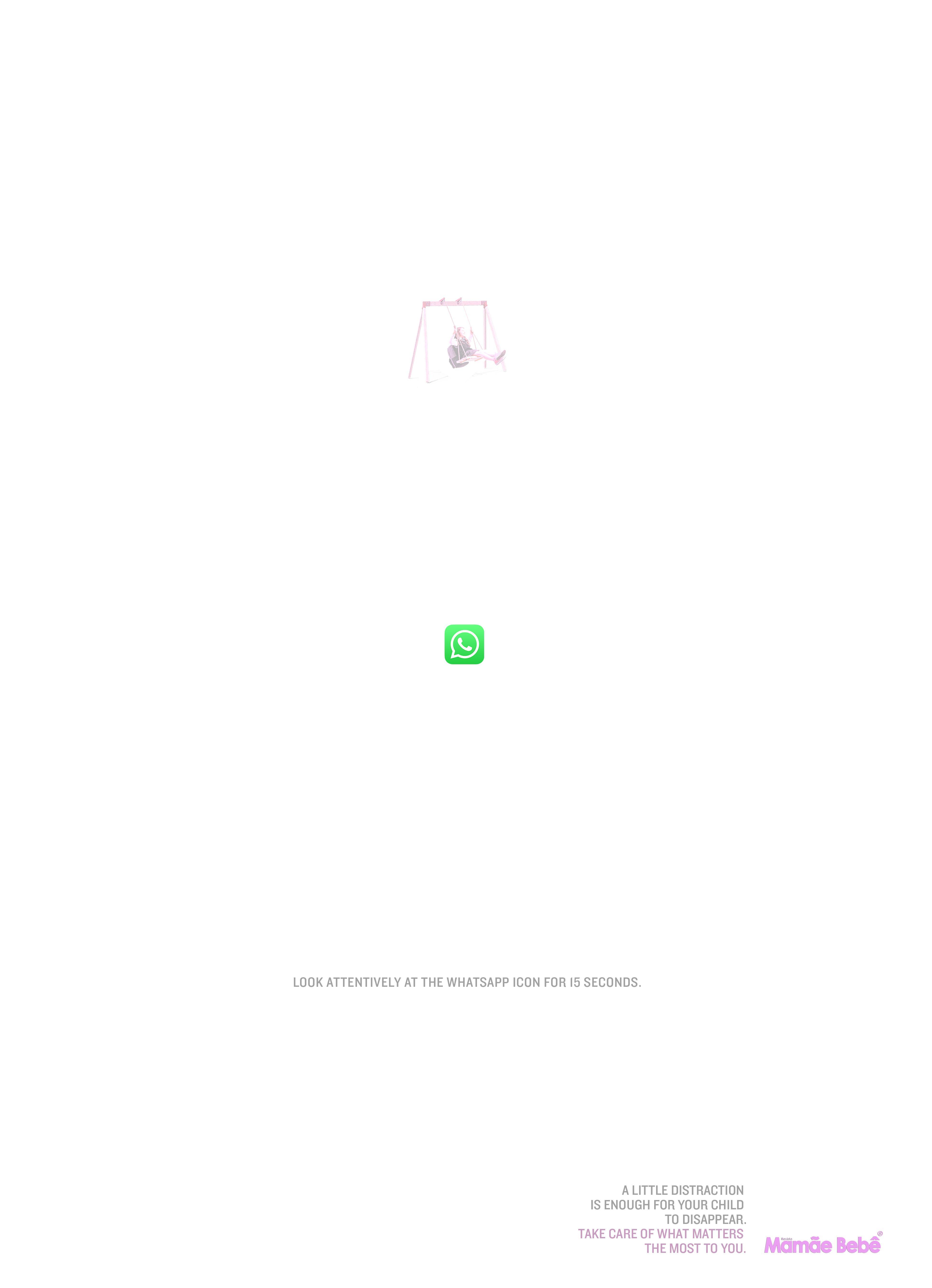 Revista Mamãe Bebê Print Ad - Optical Illusion, 3