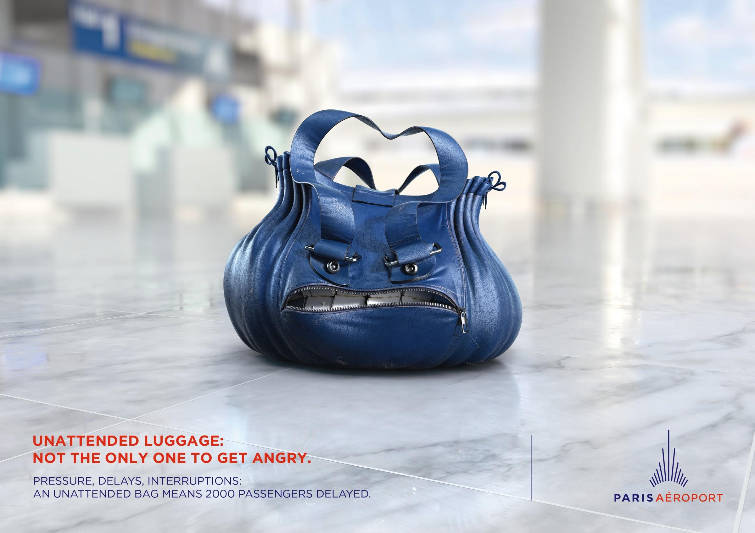 Paris Aéroport Outdoor Ad - Angry Bags, 1